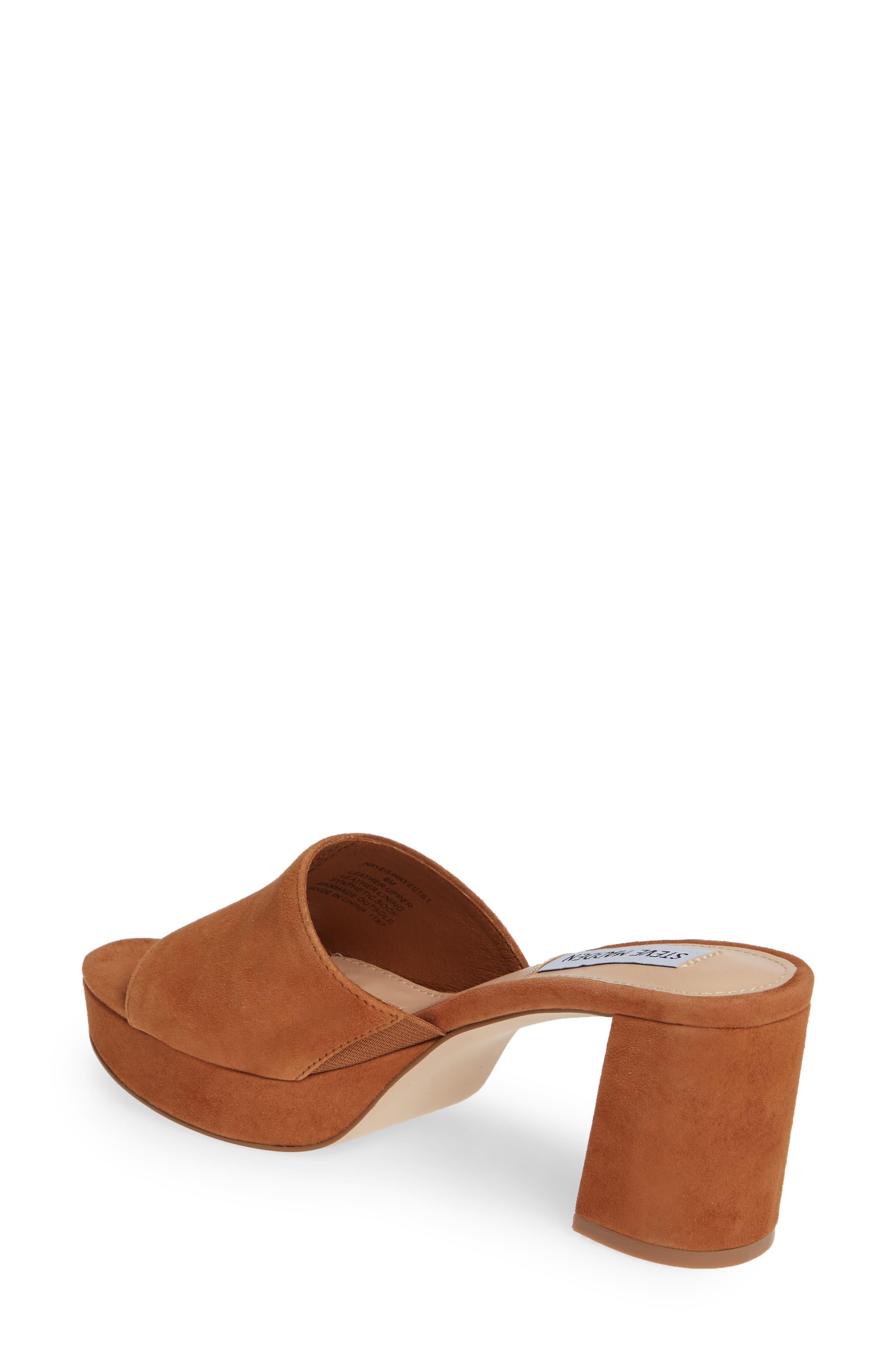 aa936c1387d Women's Brown Hayes Platform Slide Sandal