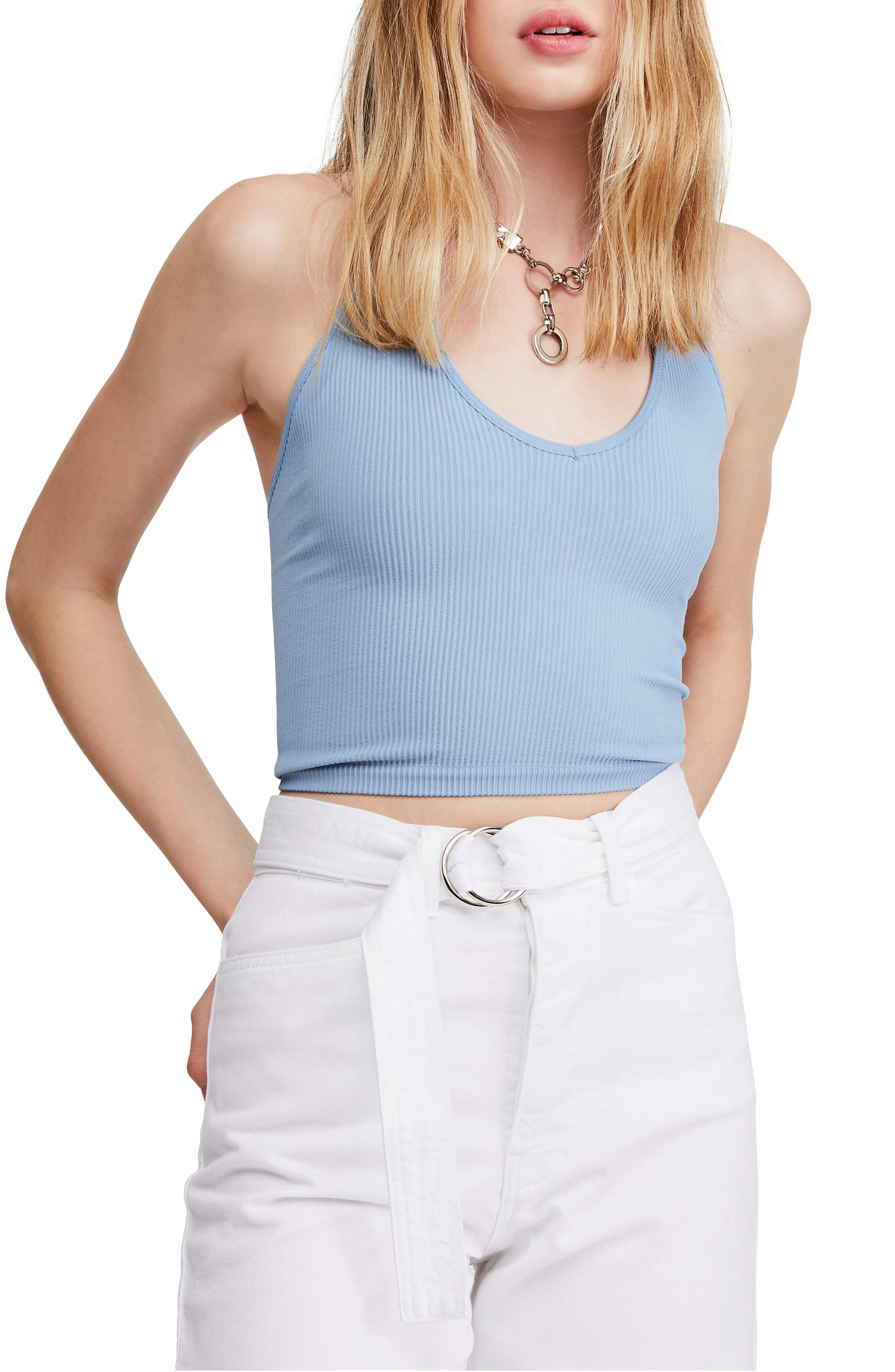2b3d0f0643b72 Lyst - BDG Urban Outfitters Halter Crop Top in Blue