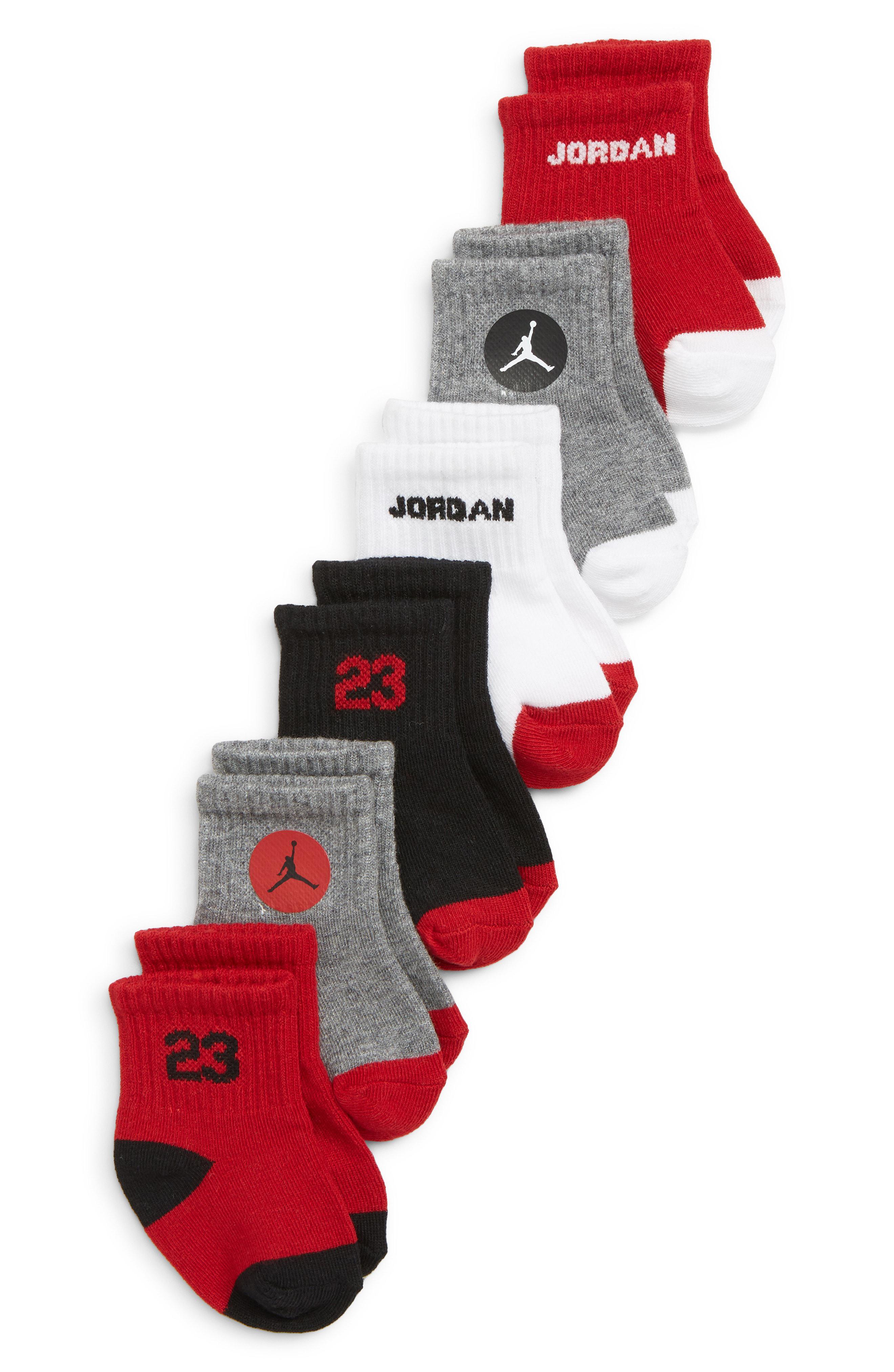 Lyst - Nike 6-pack Jordan Legend Quarter Socks for Men