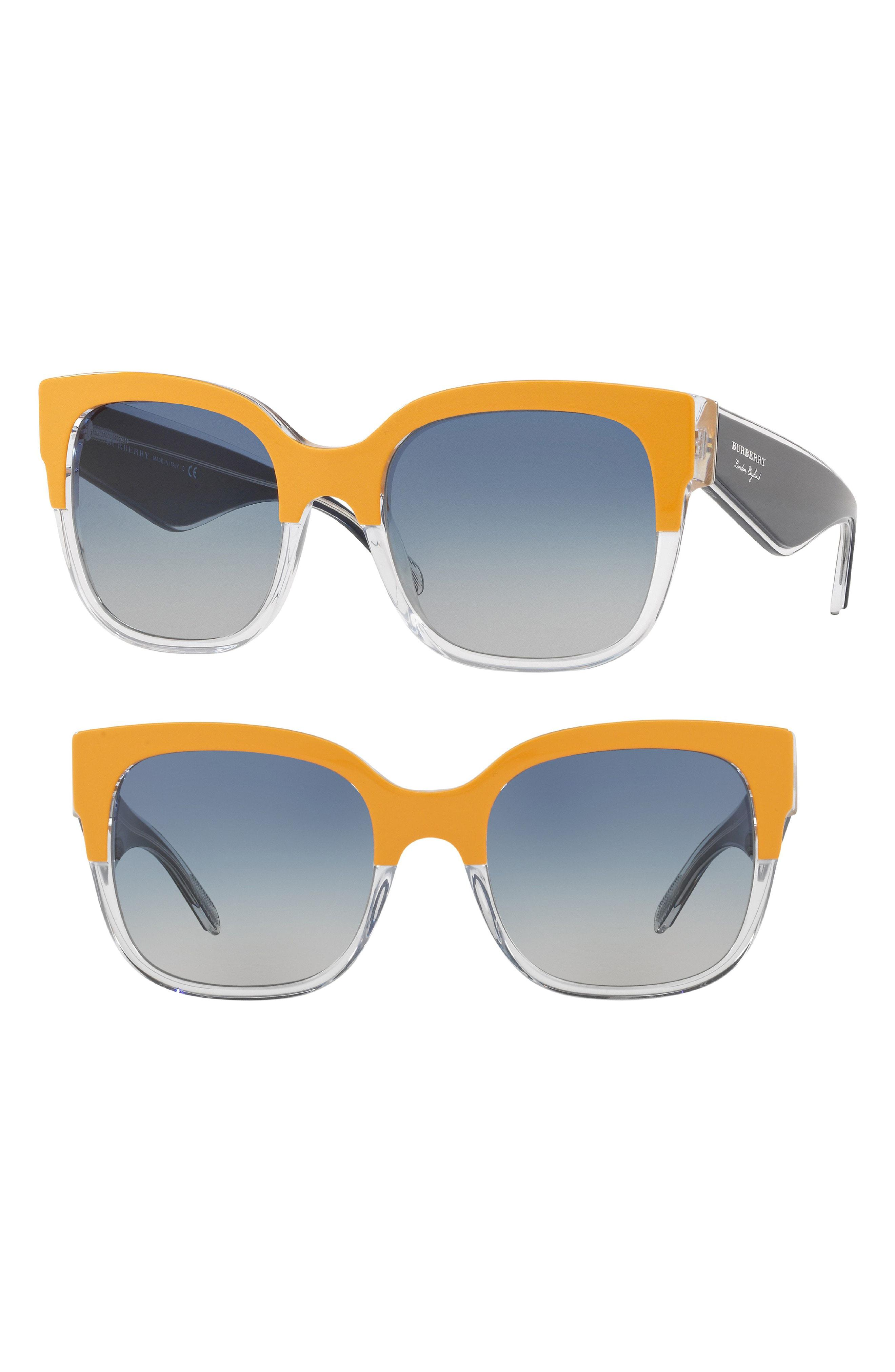 c804f3f7550 Lyst - Burberry 56mm Cat Eye Sunglasses
