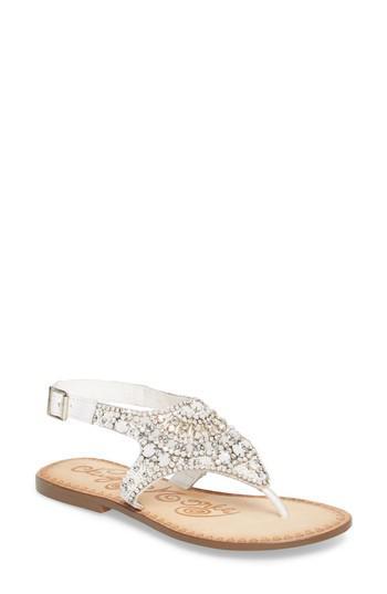 b565a77f0811 Lyst - Naughty Monkey Iceberg Crystal Embellished Sandal in White