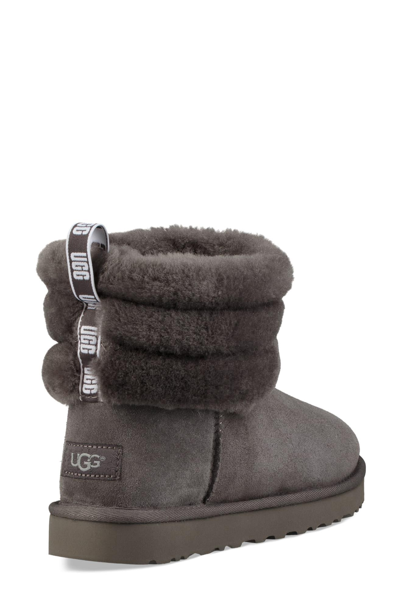 ec6ad9b5d07 Women's Gray Fluff Mini Quilted Boots