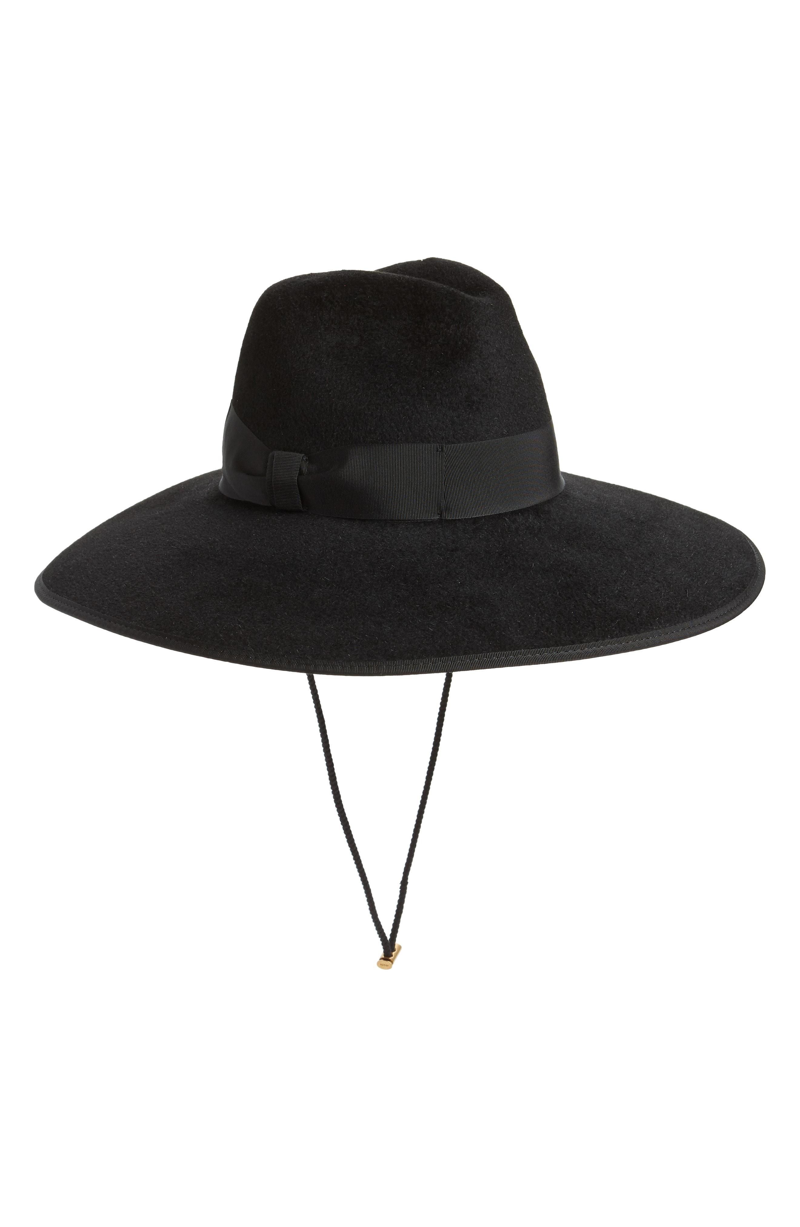 d1876dc1 Lyst - Gucci Sereno Fur Felt Hat in Black