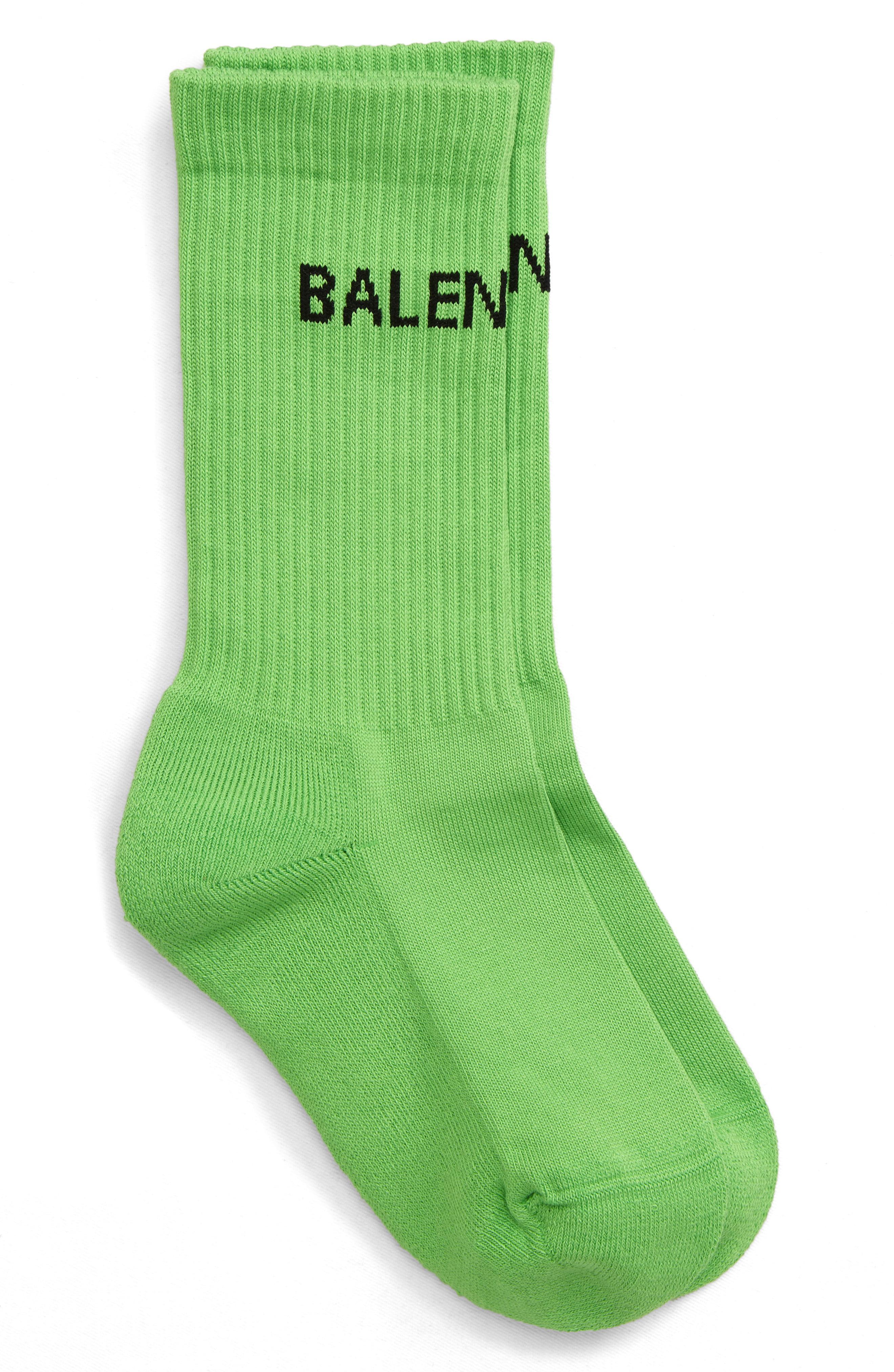 Balenciaga Cotton Logo Knit Socks in