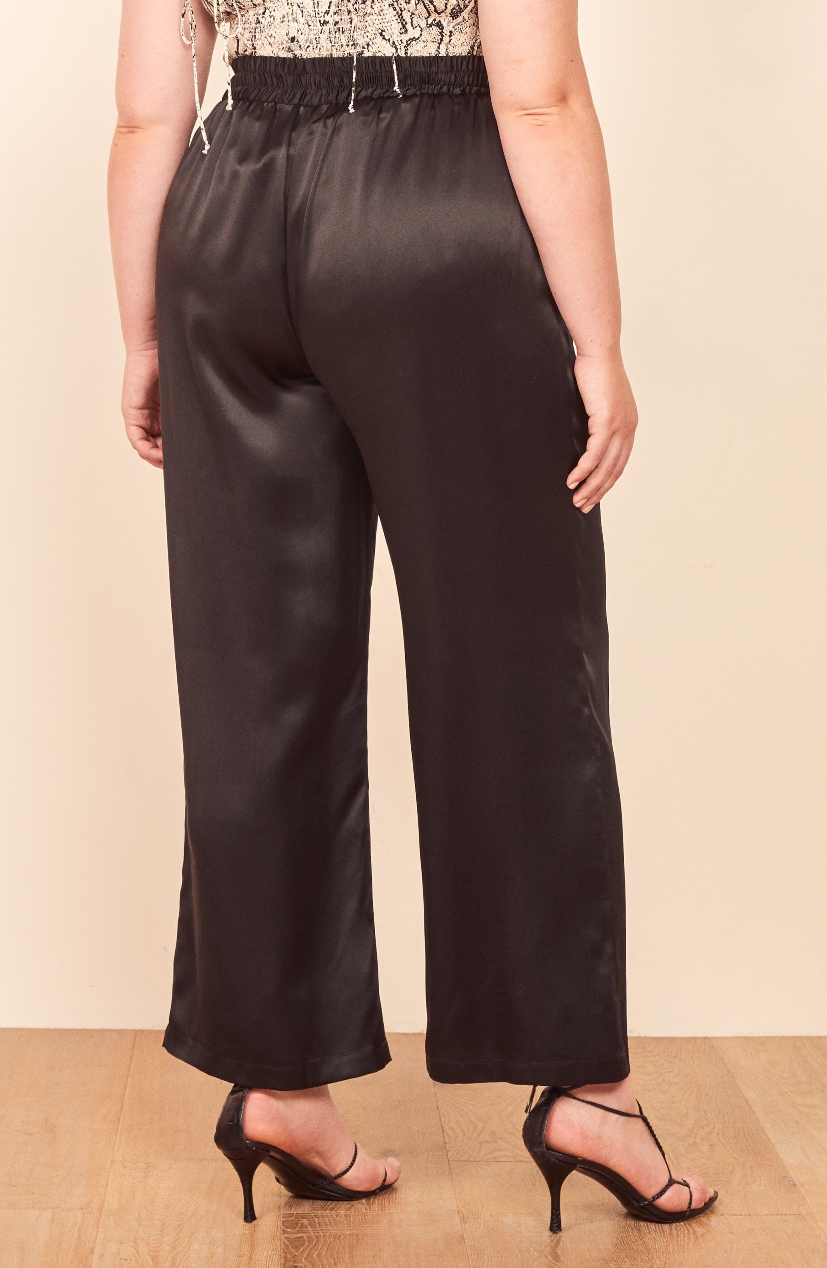 TIFENNY Fashion Harlan Trousers for Women Solid Buttons Cotton and Linen Casual Loose Trouser Wide Leg Pants Close The Foot
