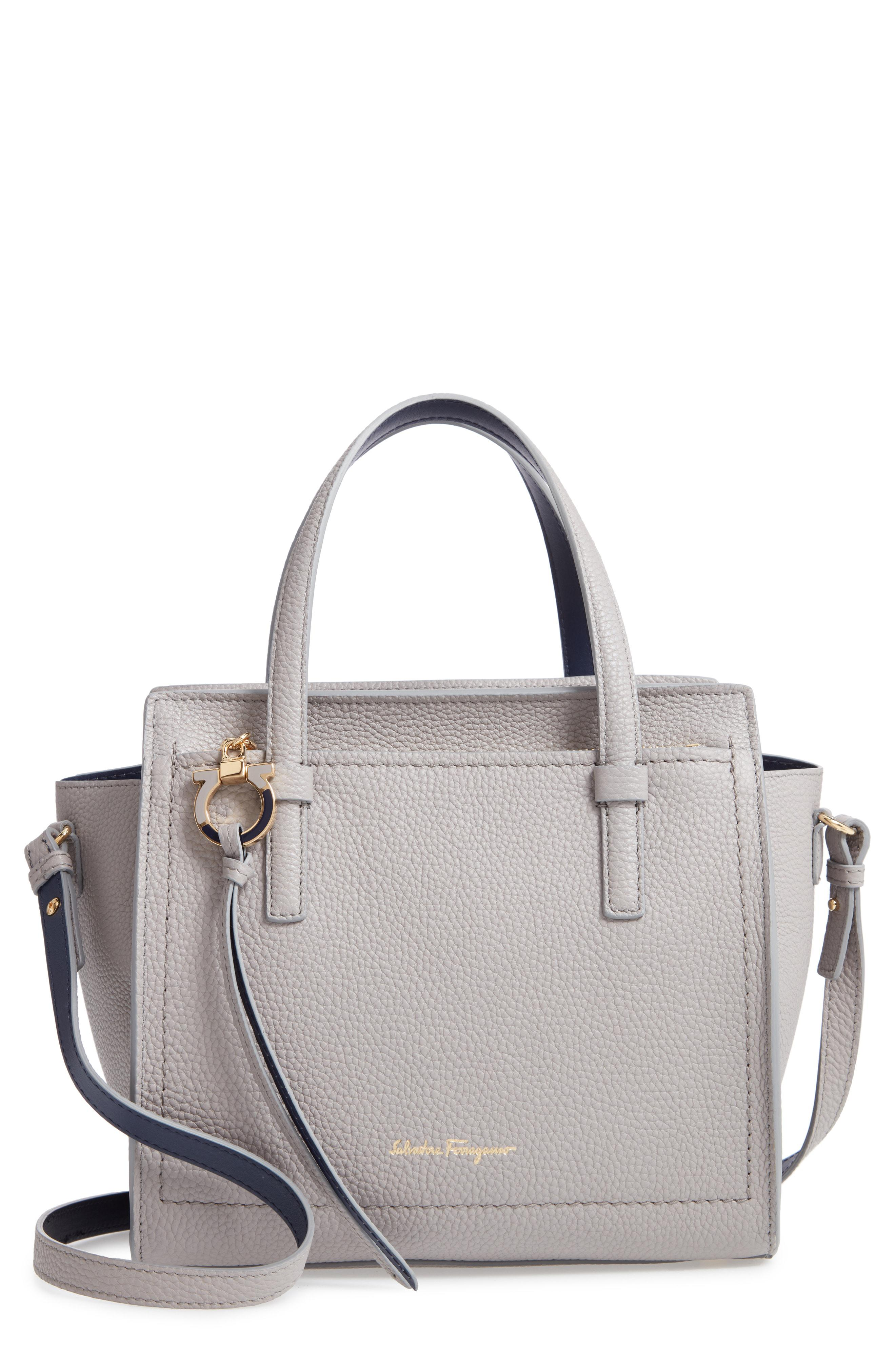 cd756e98e3886 Lyst Ferragamo Amy Piccolo Leather Tote In Gray. Cross Body Ferragamo  Medium Gancini Shoulder ...