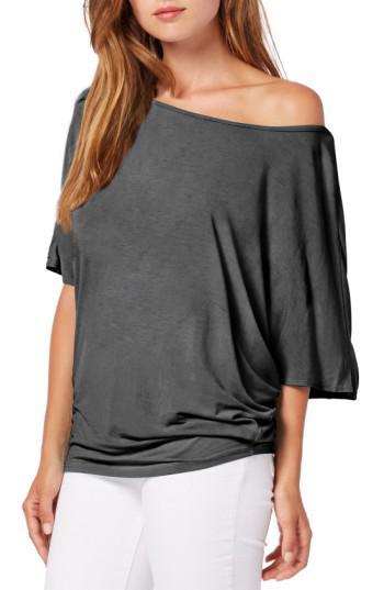 8428386ec47c56 Lyst - Michael Stars Boatneck Dolman Sleeve Jersey Top in Gray
