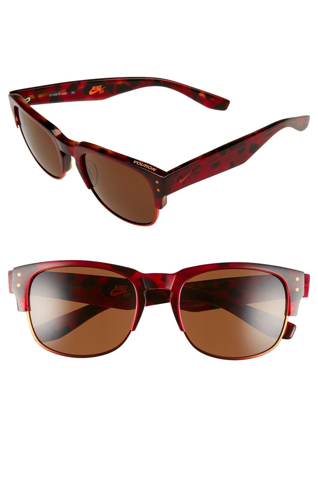 07dac58b1366 Lyst - Nike Volition 54mm Sunglasses in Red