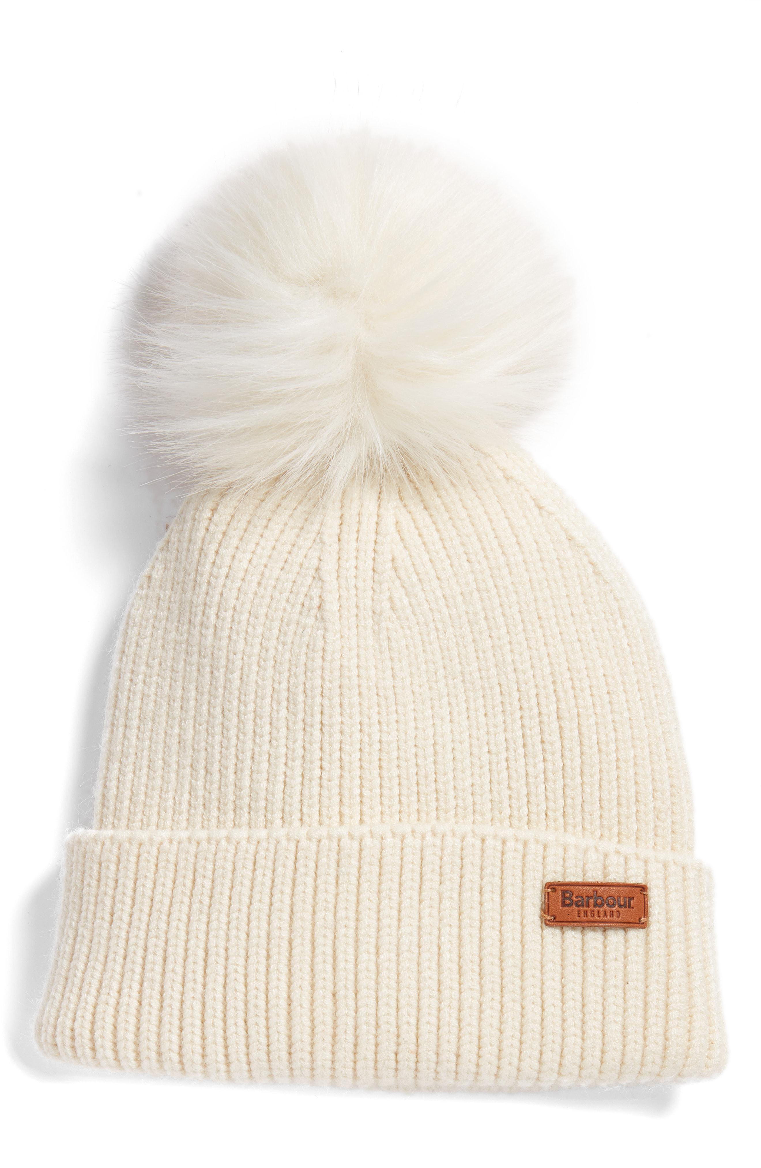 229a337c51914 Lyst - Barbour Dove Pom Beanie in Natural