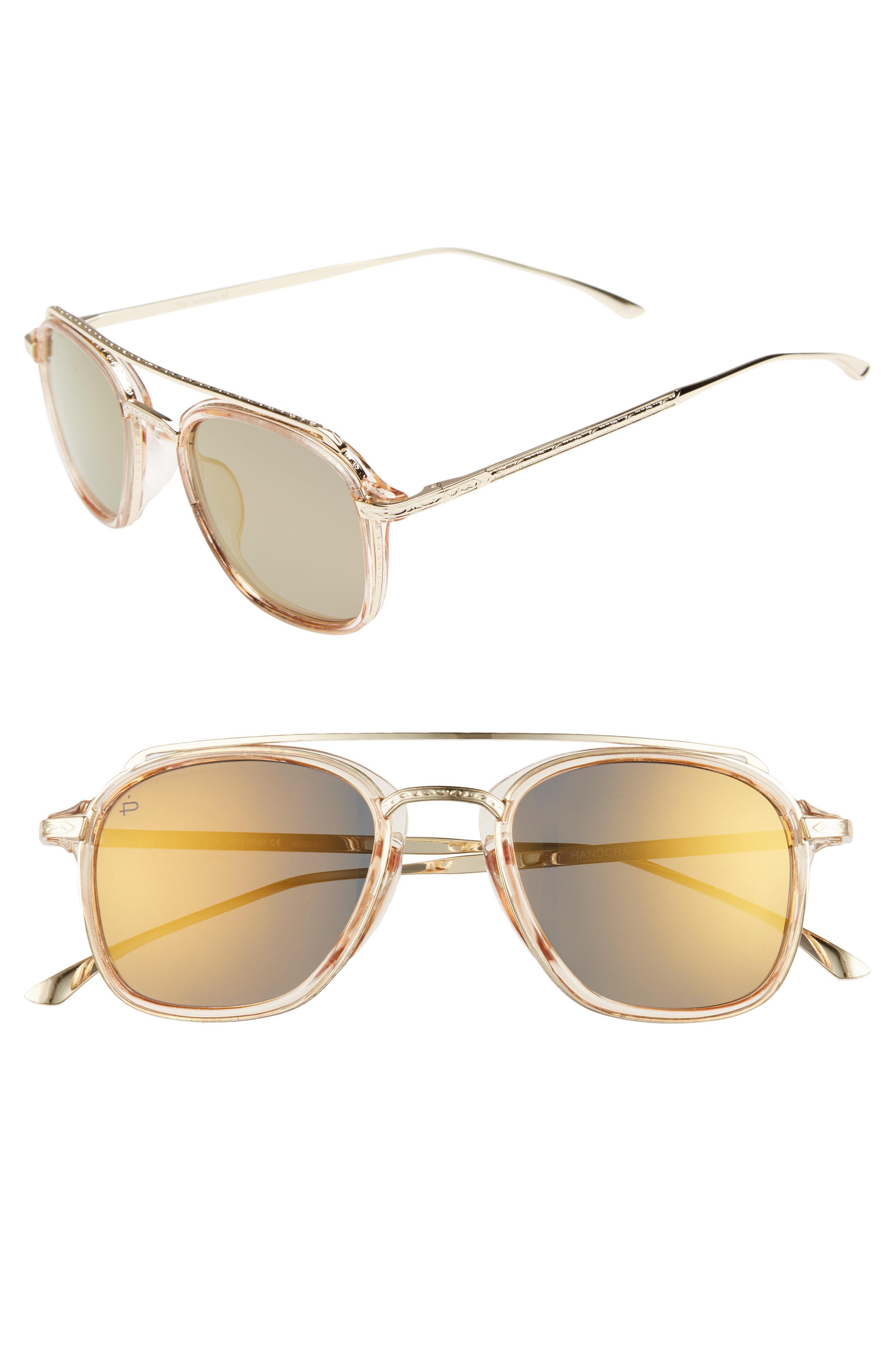 106bc243d5c1f Privé Revaux. Men s Metallic The Jetsetter 45mm Polarized Sunglasses