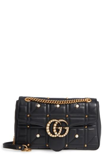 Gucci GG Marmont Matelassé Imitation Pearl Leather