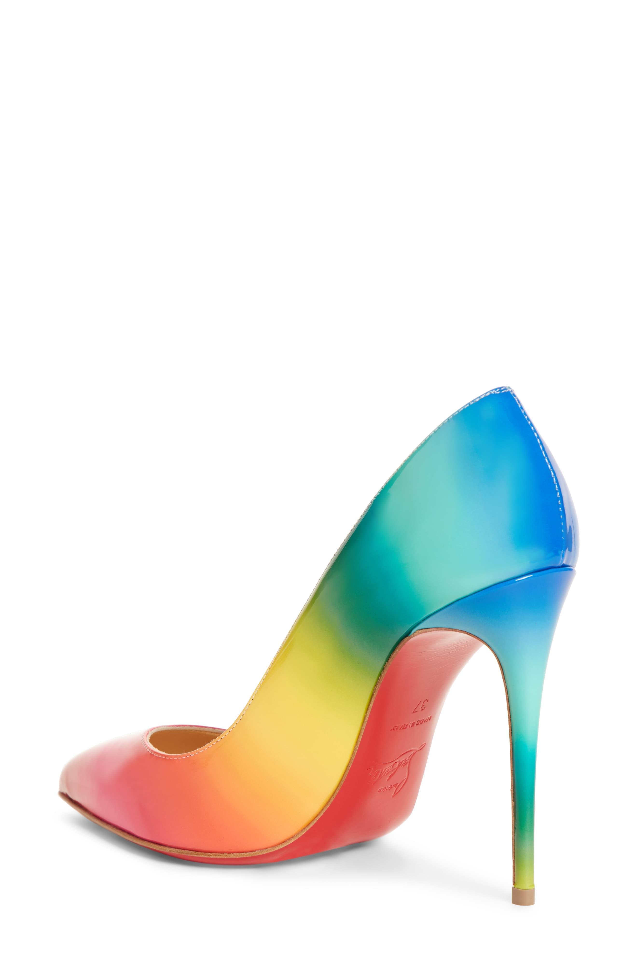 premium selection afff5 282fd Women's Blue Pigalle Follies Rainbow Pump