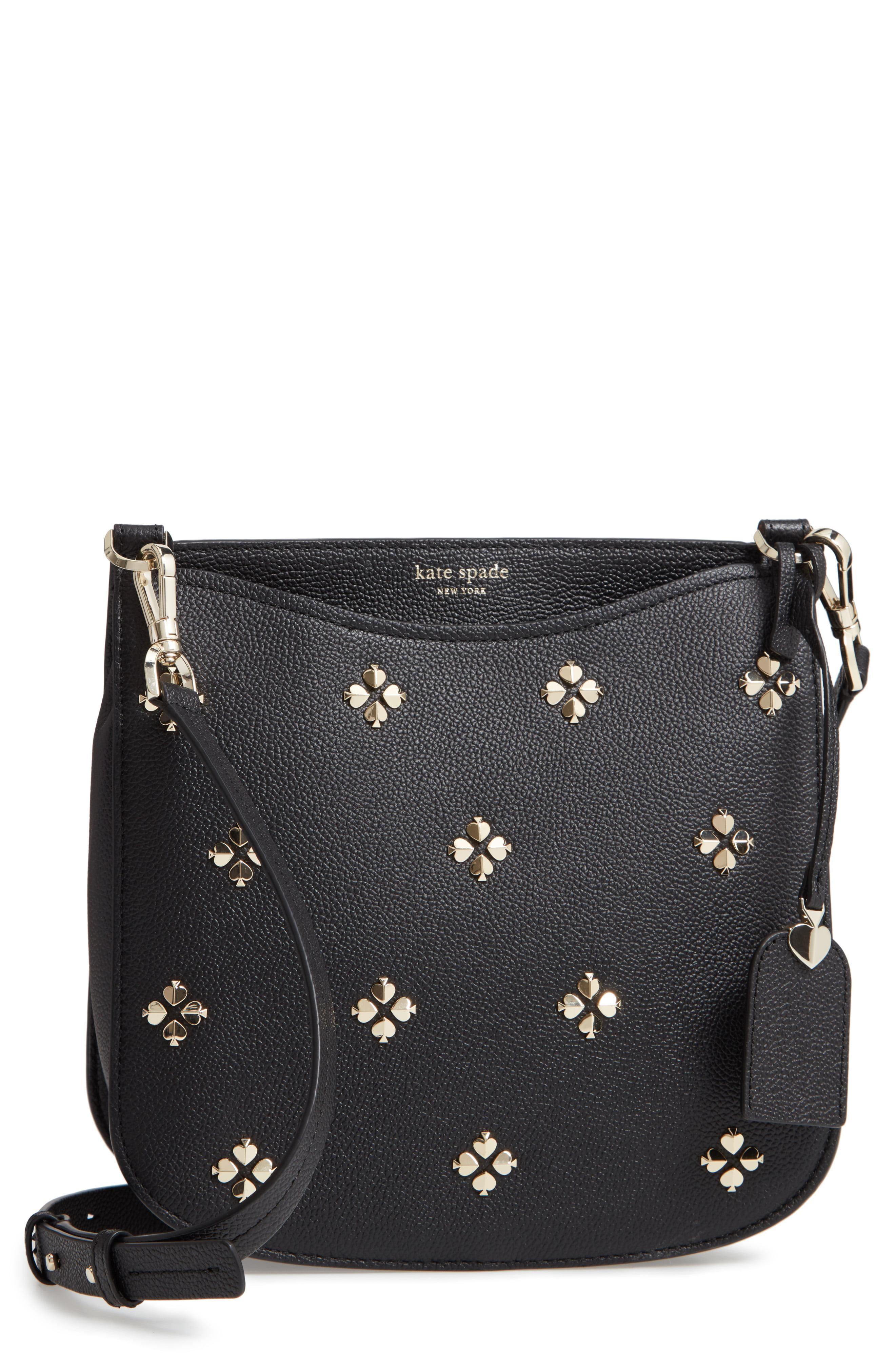 4c221a7b3 Kate Spade. Women's Black Large Margaux Embellished Leather Crossbody Bag -