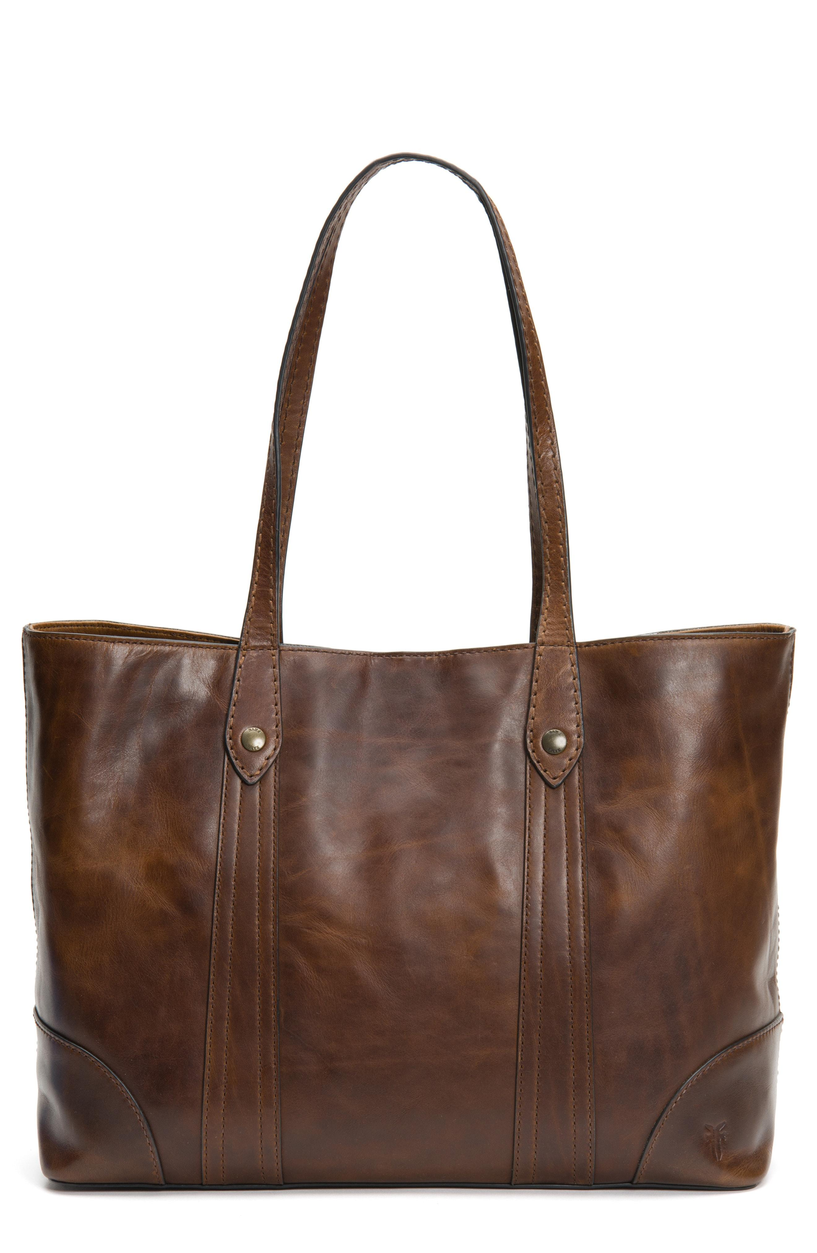 04970584ed92 Lyst - Frye Melissa Leather Shopper in Brown - Save 50%