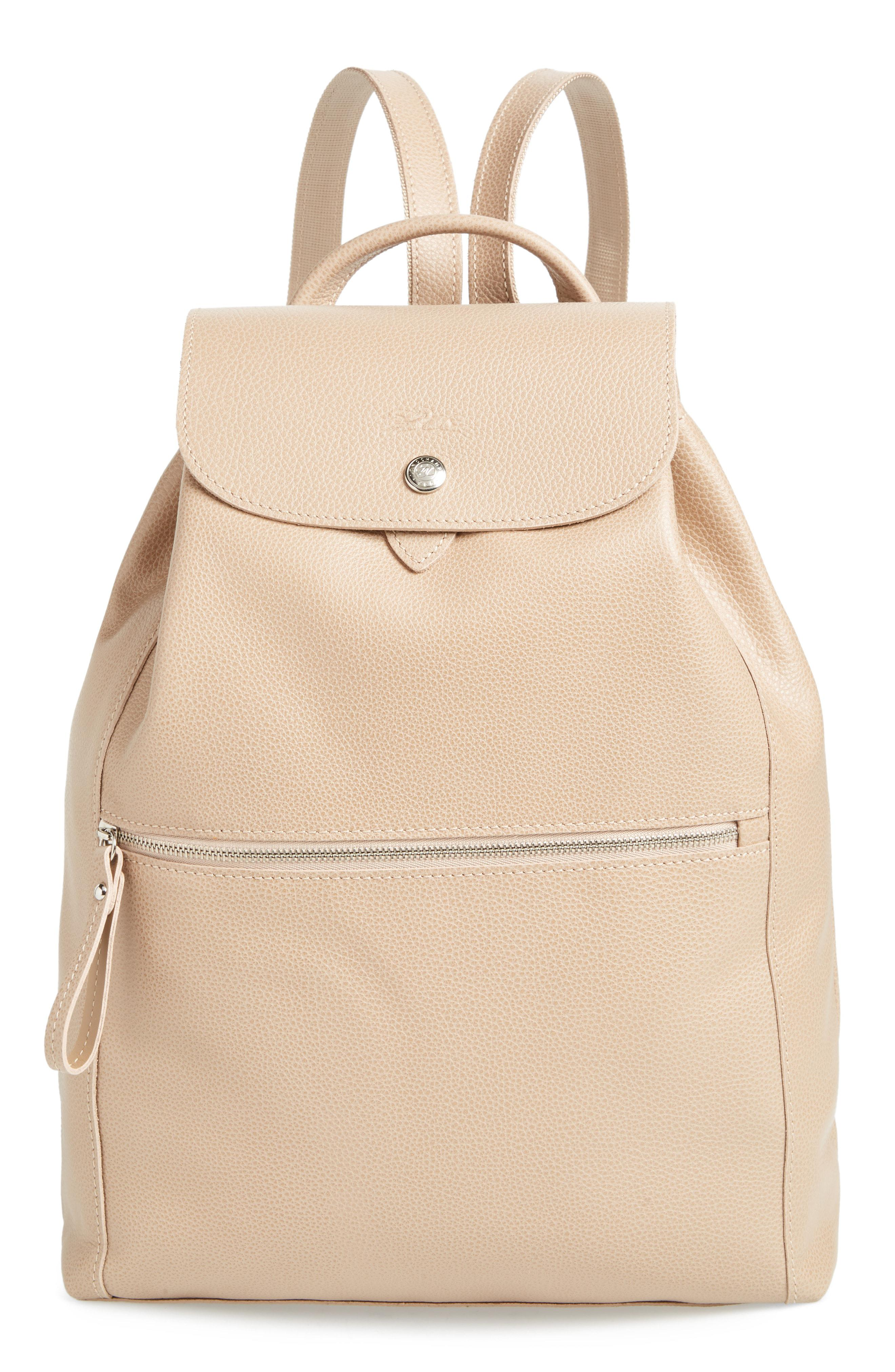 b926e4eee7fe Lyst - Longchamp Leather Backpack - in Natural