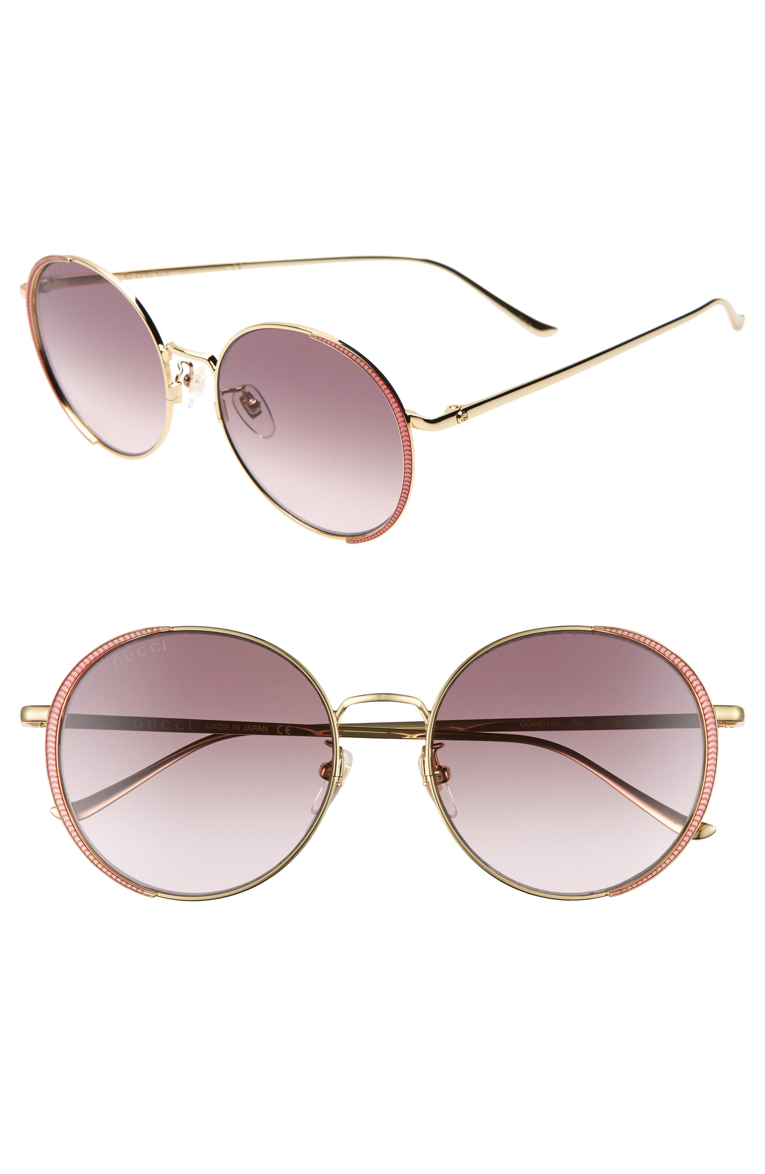 de693c7b9a Gucci. Women s 56mm Gradient Round Sunglasses