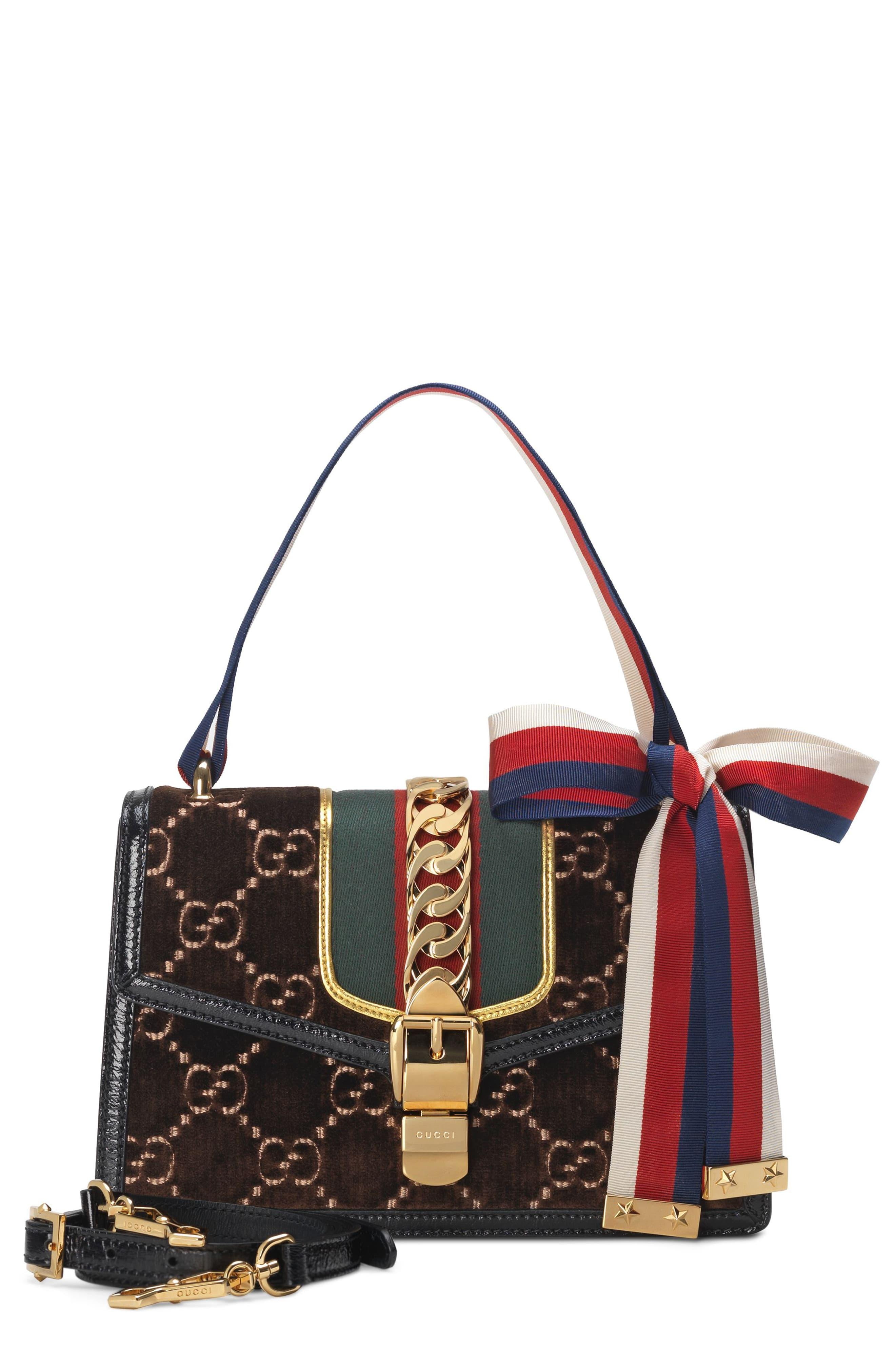 7dc6420f6 Gucci Small Sylvie Velvet Shoulder Bag - in Red - Lyst