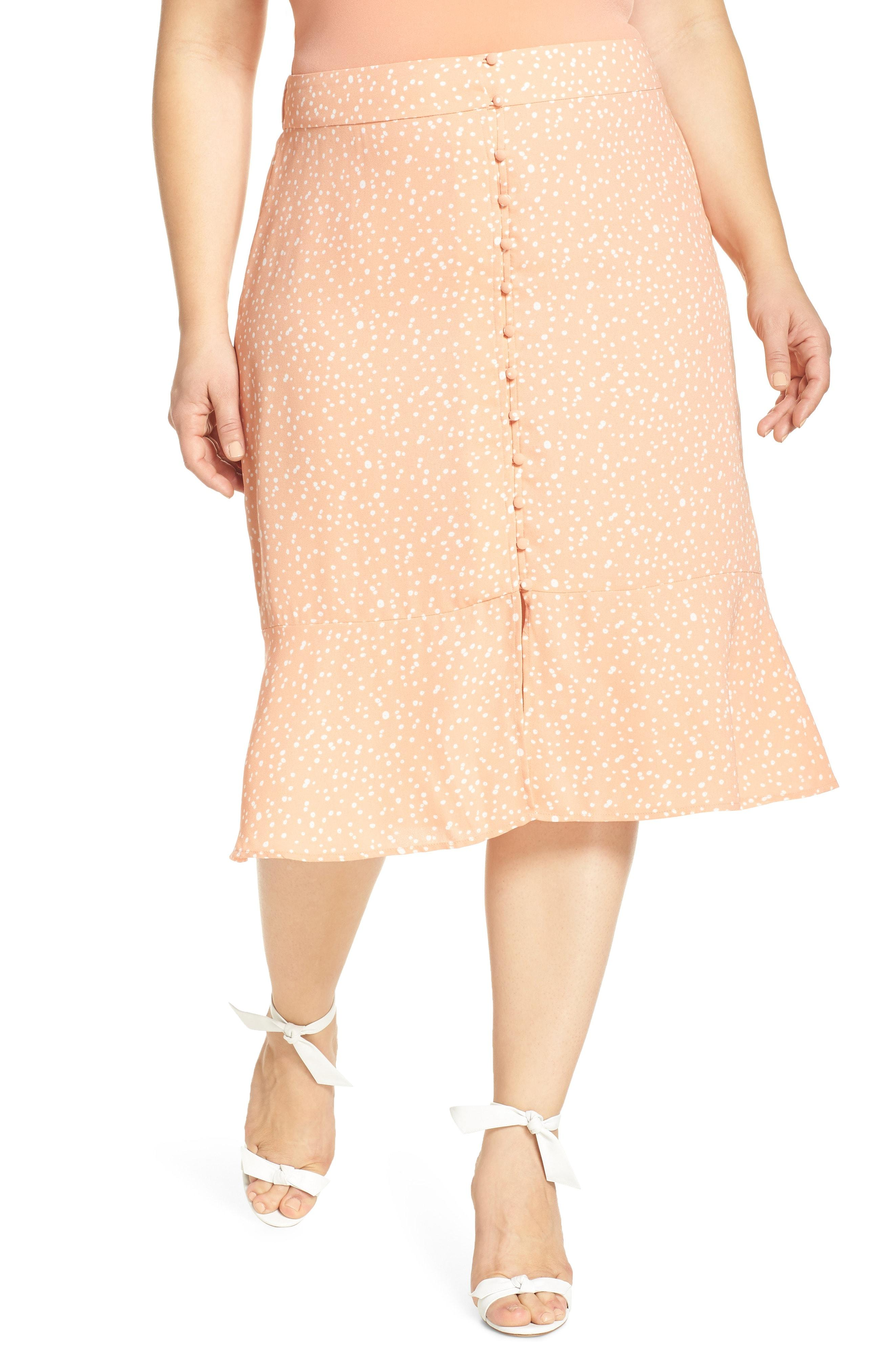 99791af9e Lyst - Leith Front Button Midi Skirt in Natural