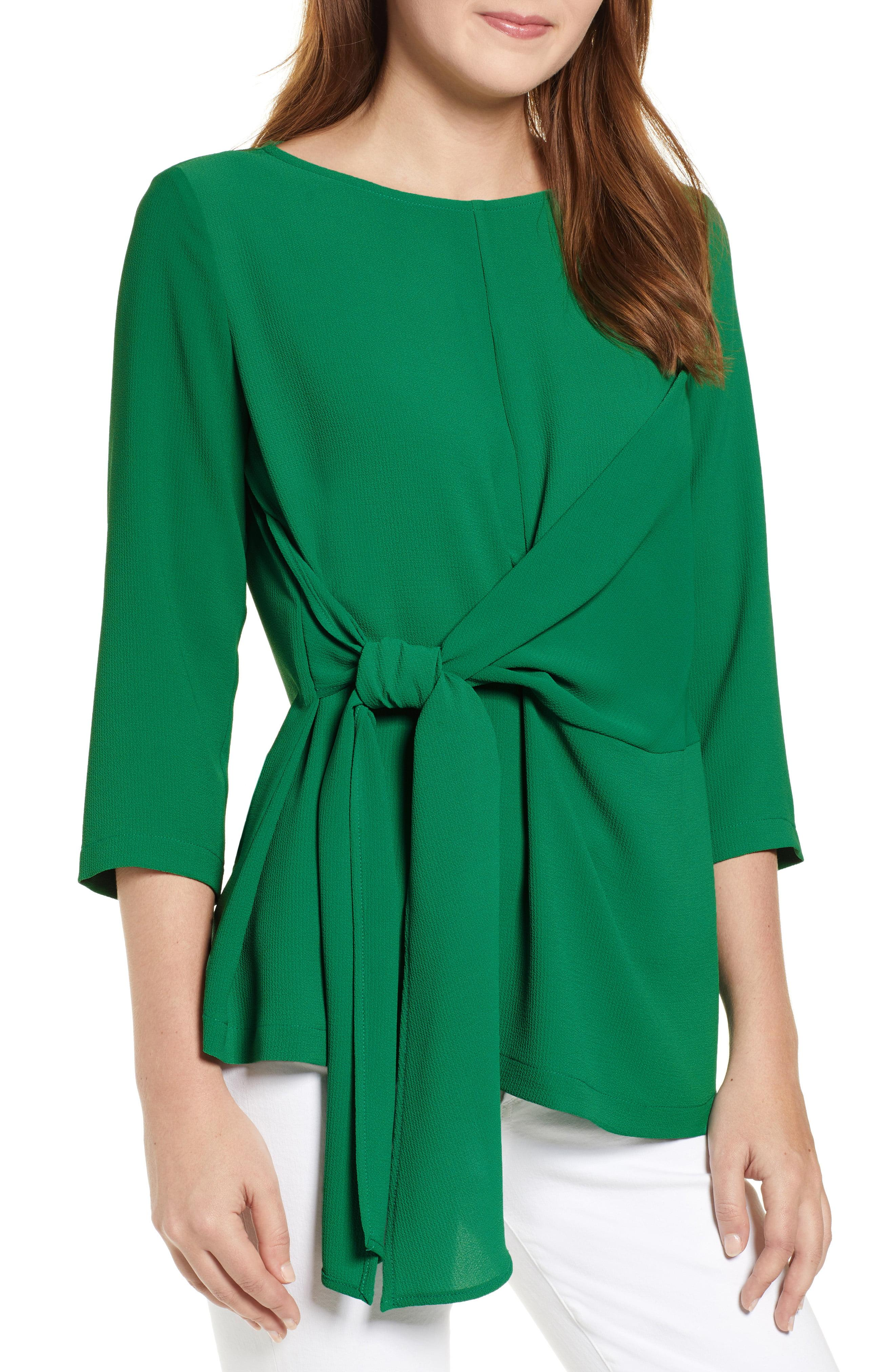 f9ee84a45f4db8 Lyst - Gibson X International Women s Day Hoang-kim Tie Front Crepe ...