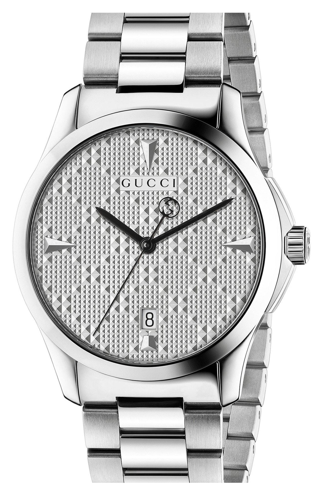 96c28226d01 Lyst - Gucci  g-timeless  Watch in Metallic for Men - Save ...