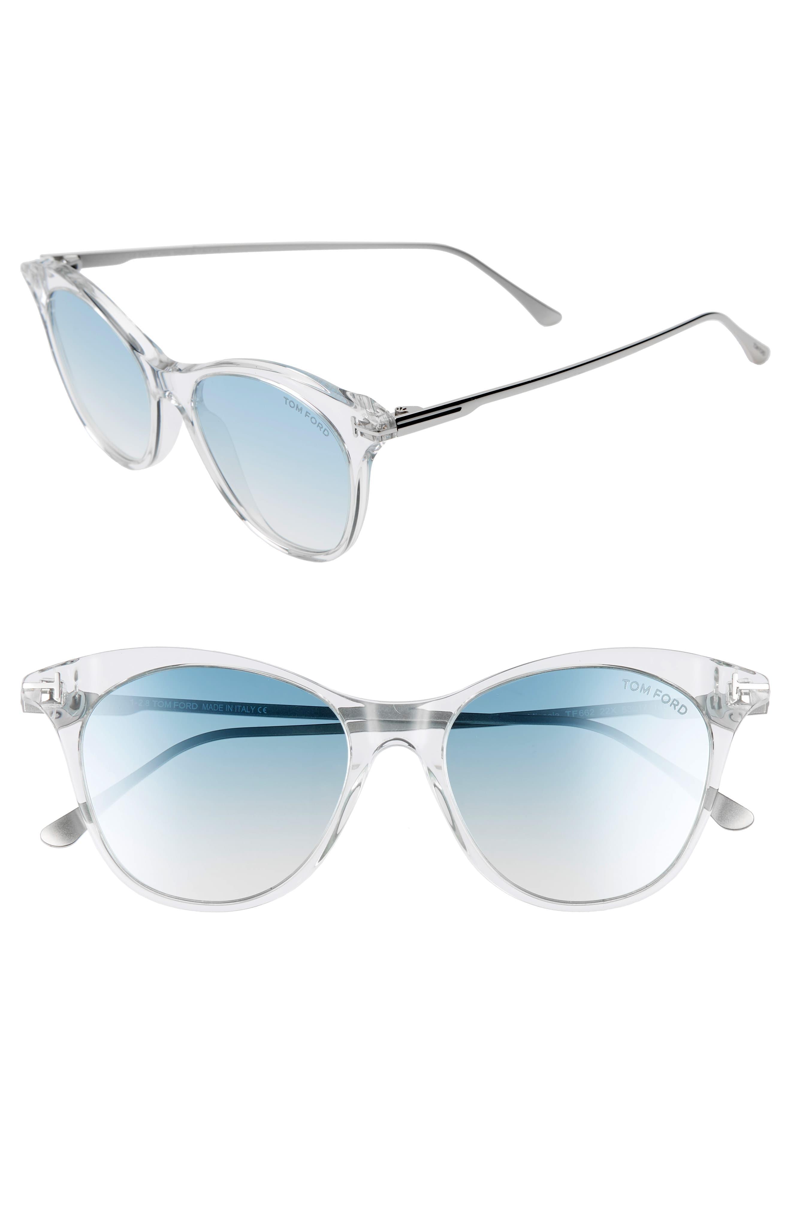 Micaela 53mm Cat Eye Sunglasses Champagne Rose Gld Brwn Silv