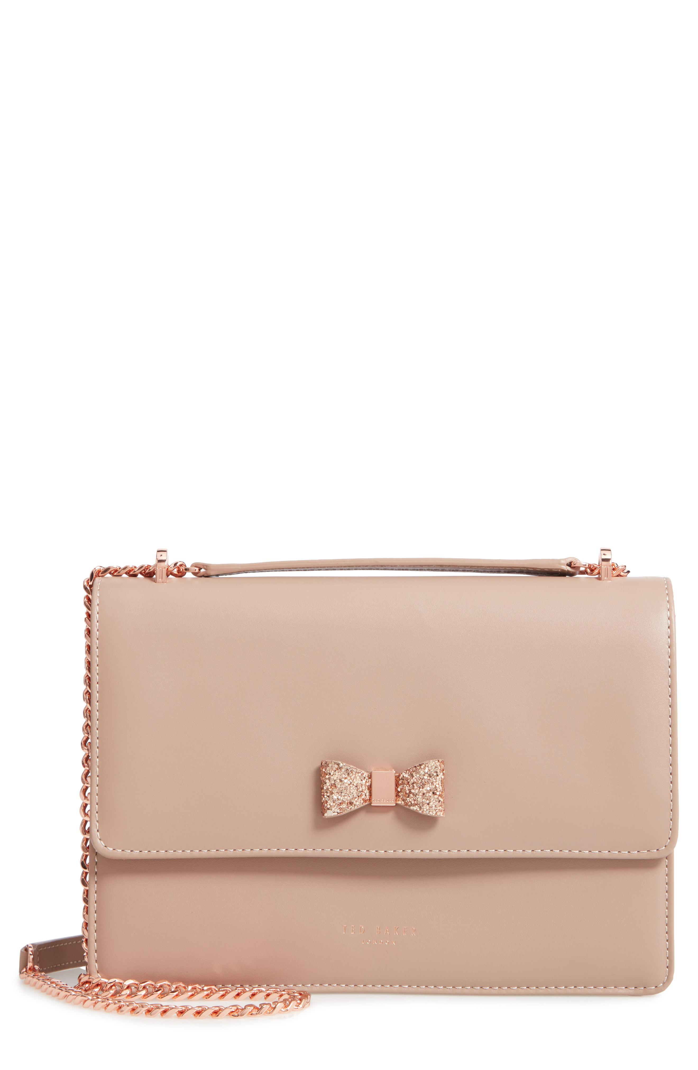 319fab030 Lyst - Ted Baker Lilyiah Bow Convertible Crossbody Bag in Natural