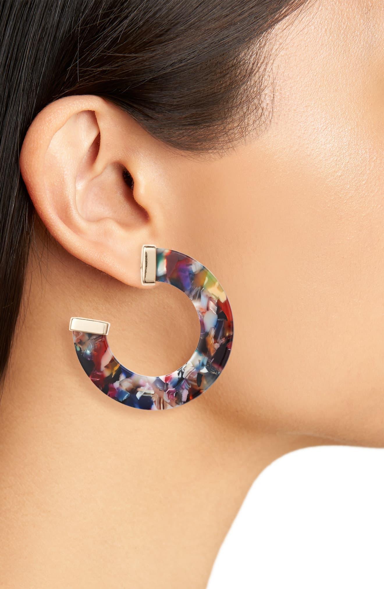 ff026f32c015e 8 Other Reasons Multicolor Josie Resin Hoop Earrings
