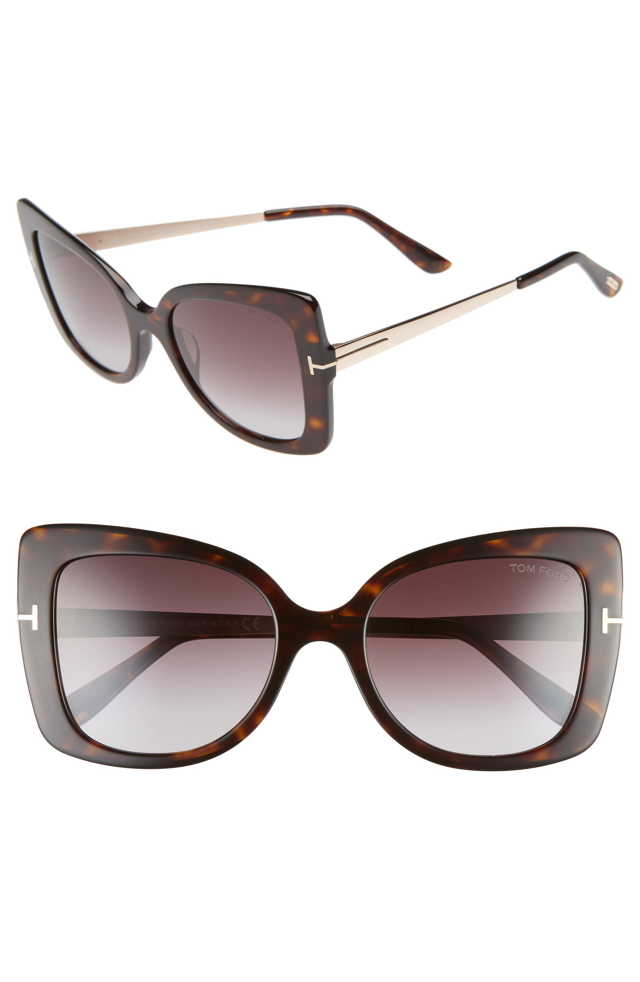 f6e1e44aae Tom Ford - Multicolor Gianna 54mm Sunglasses - Dark Havana  Gradient  Bordeaux - Lyst. View fullscreen
