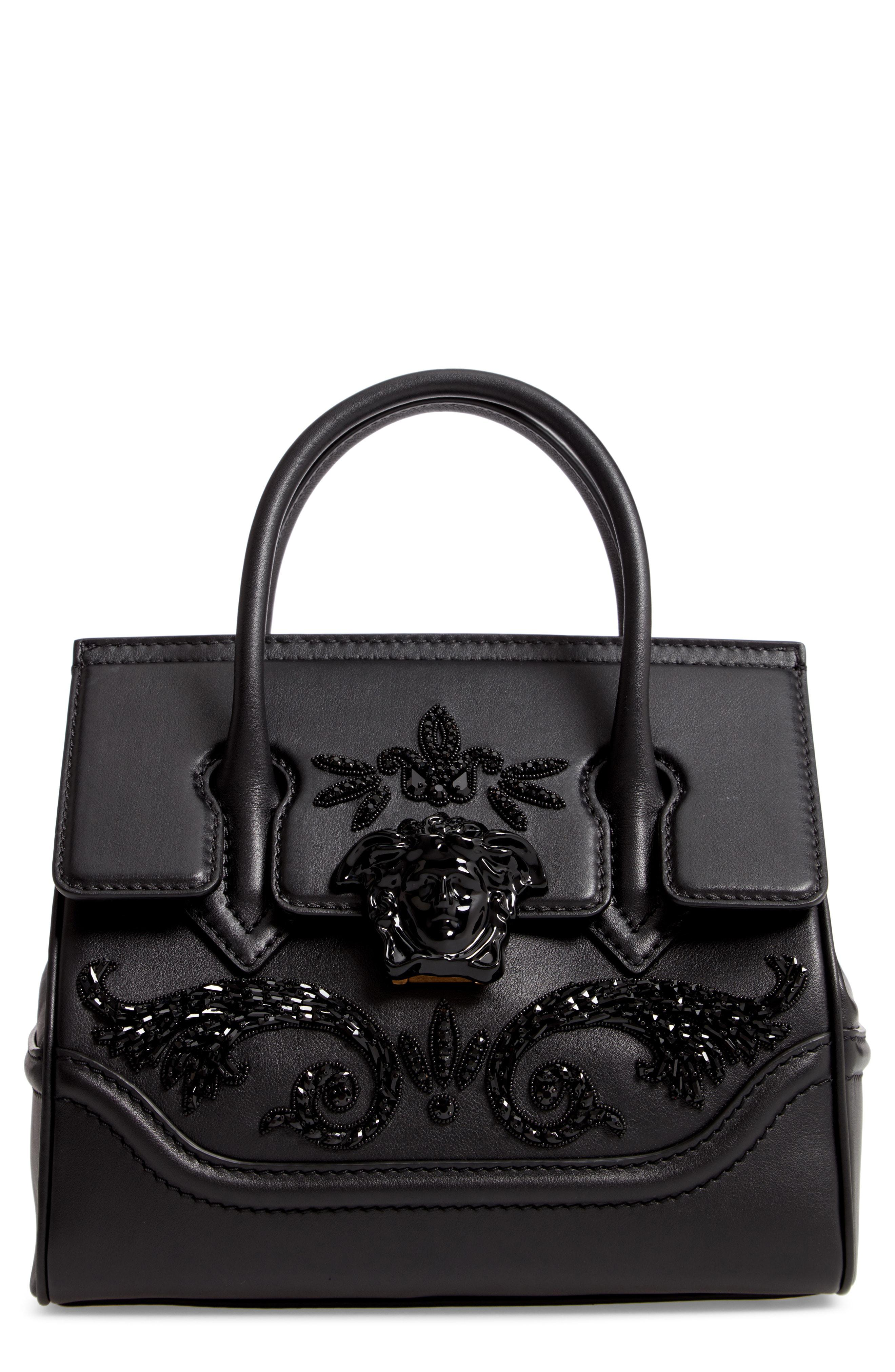 Lyst - Versace Palazzo Empire Medium Crystal Embellished Leather ... ae2b554ff9519