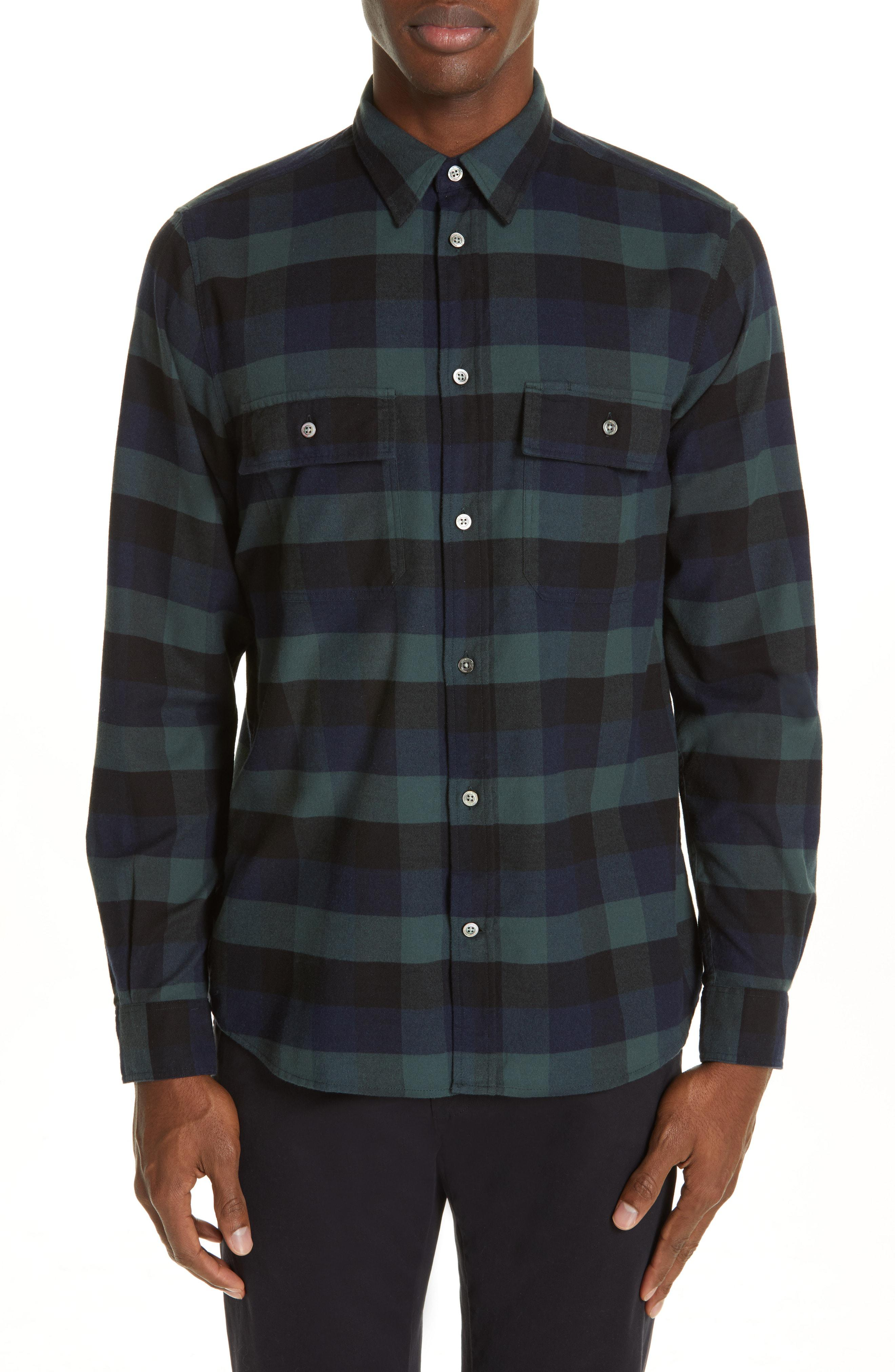 882f914ca Lyst - Norse Projects Villads Check Brushed Flannel Shirt for Men