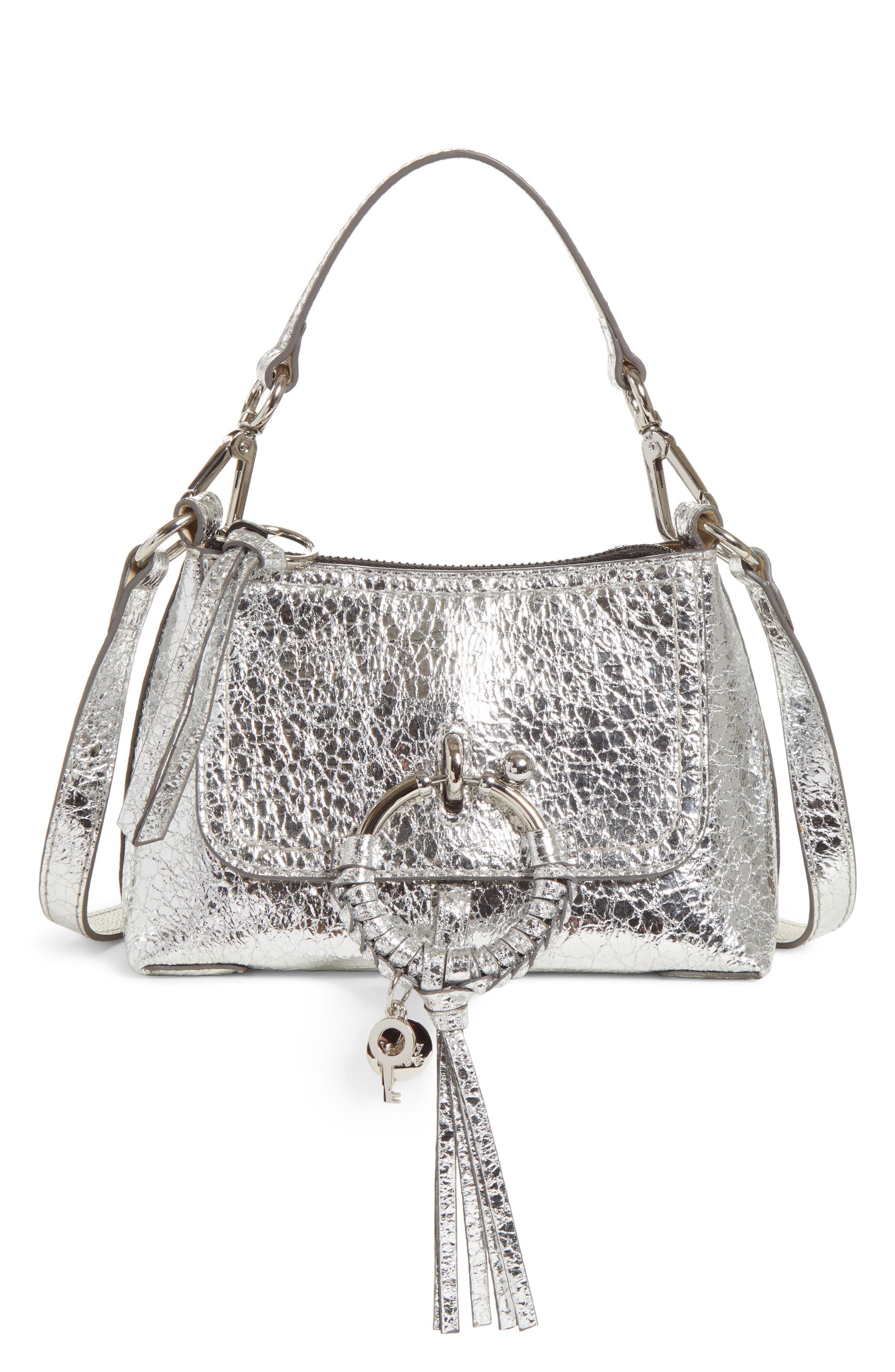 Leather Joan See Crossbody Metallic Mini Bag Lyst Chloé By FxnqaOY