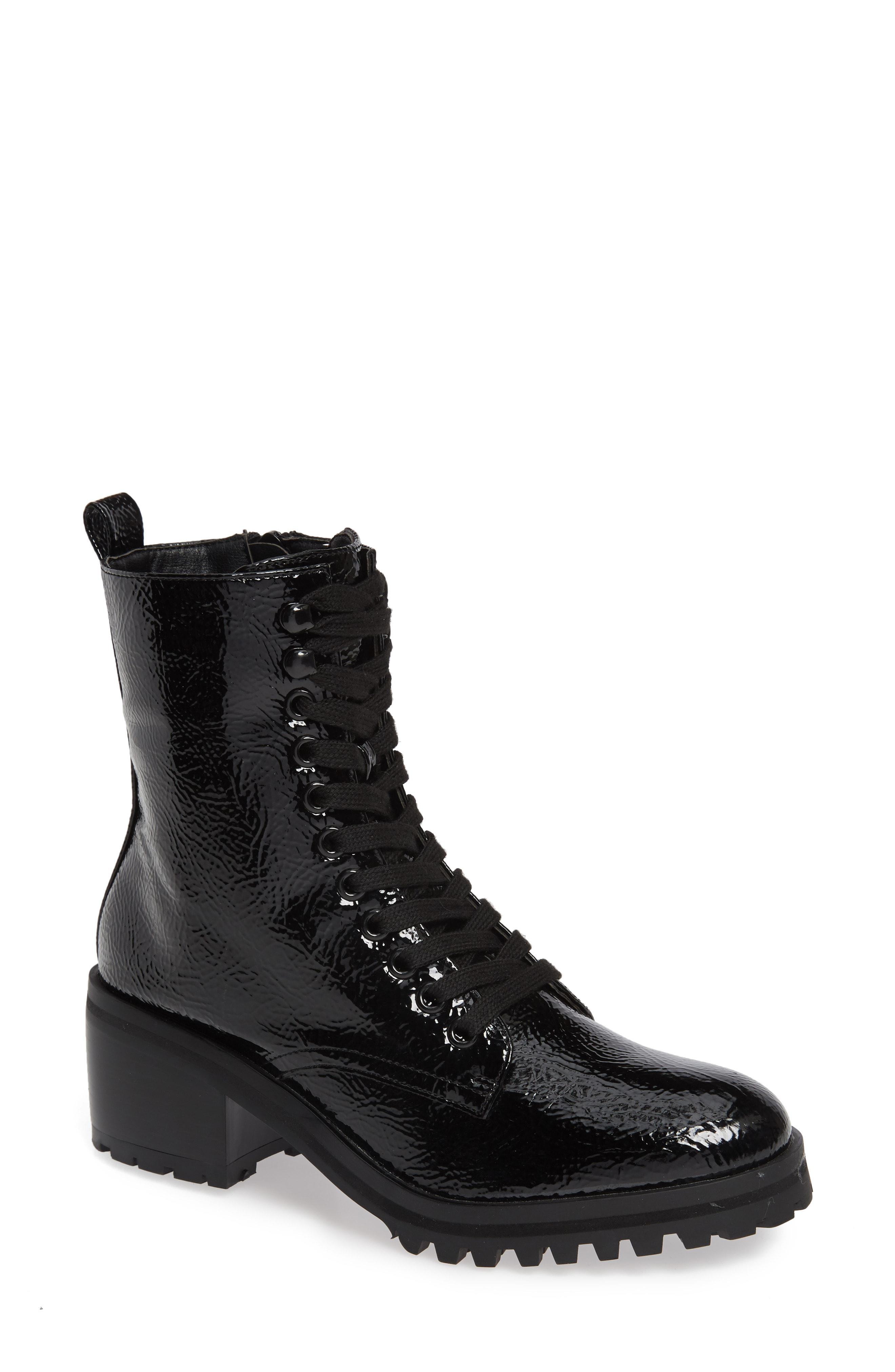 TOPSHOP Brazil Lace-up Boot in Black - Lyst