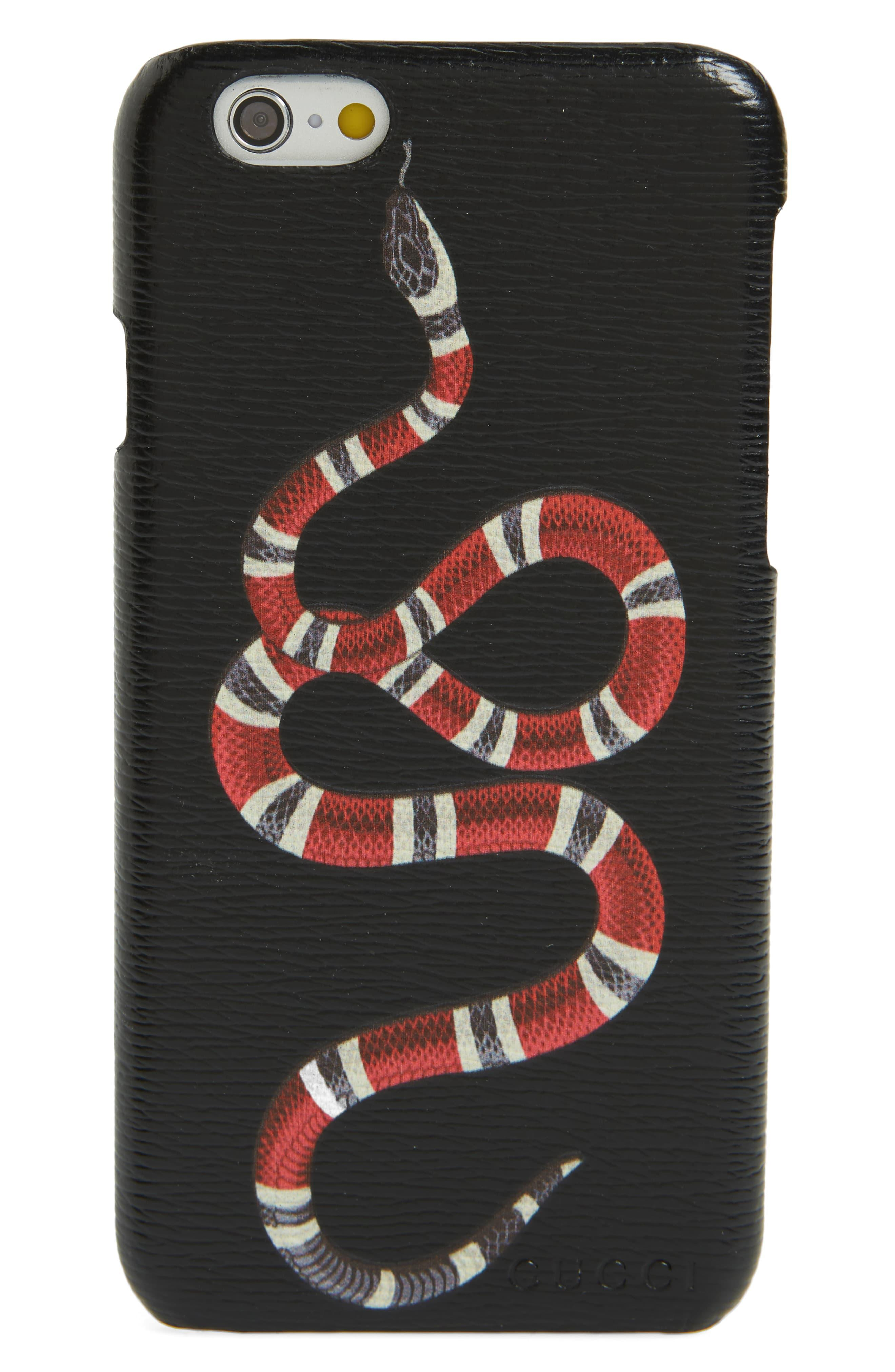 Black Snake Print Iphone 8 Case