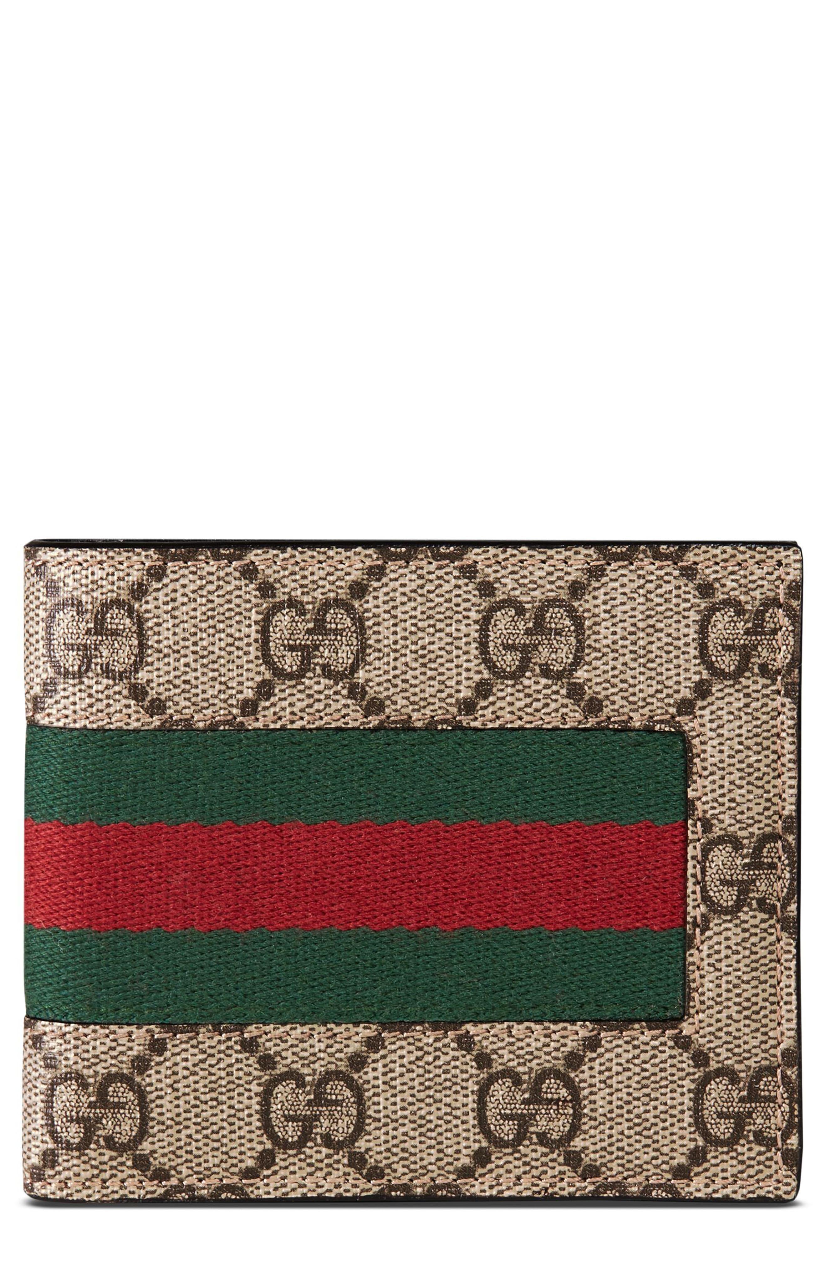 e2455a65e4d3 Gucci Web Gg Supreme Wallet for Men - Save 38% - Lyst