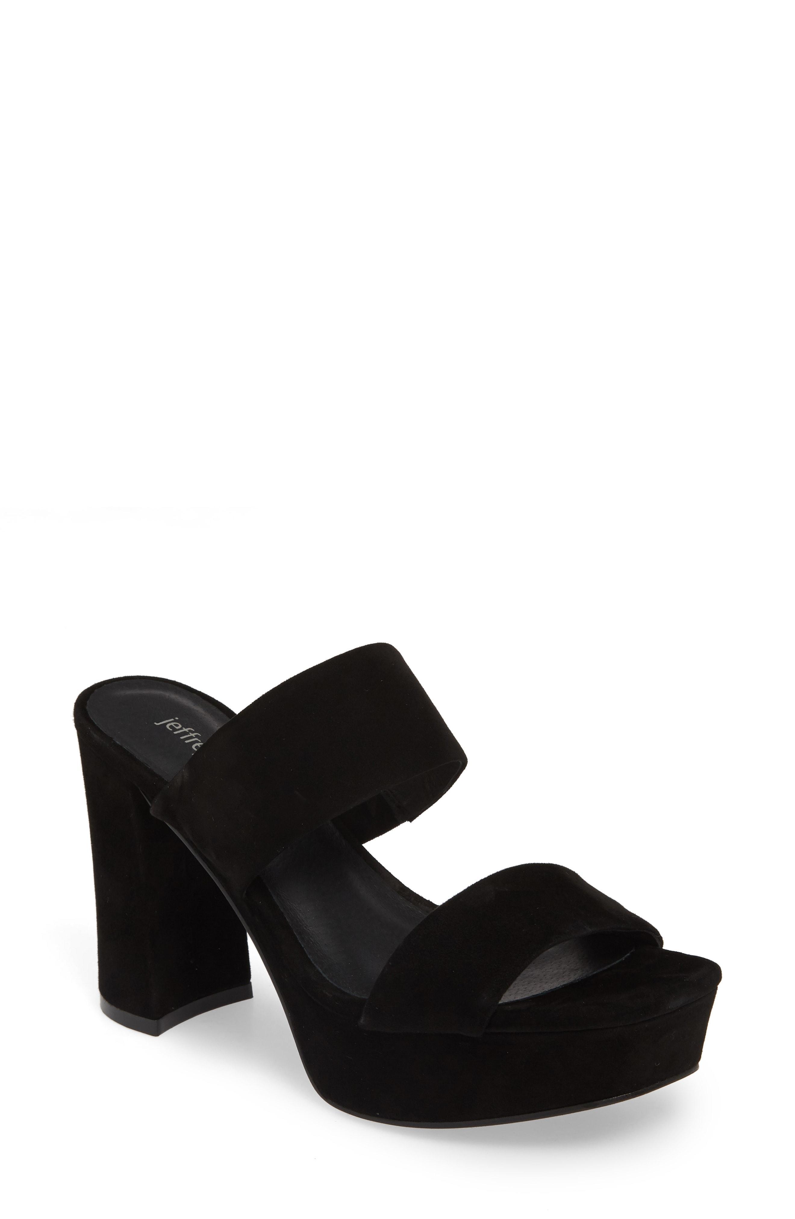 576e170d584a Jeffrey Campbell Adriana-2 Platform Slide Sandal in Black - Lyst