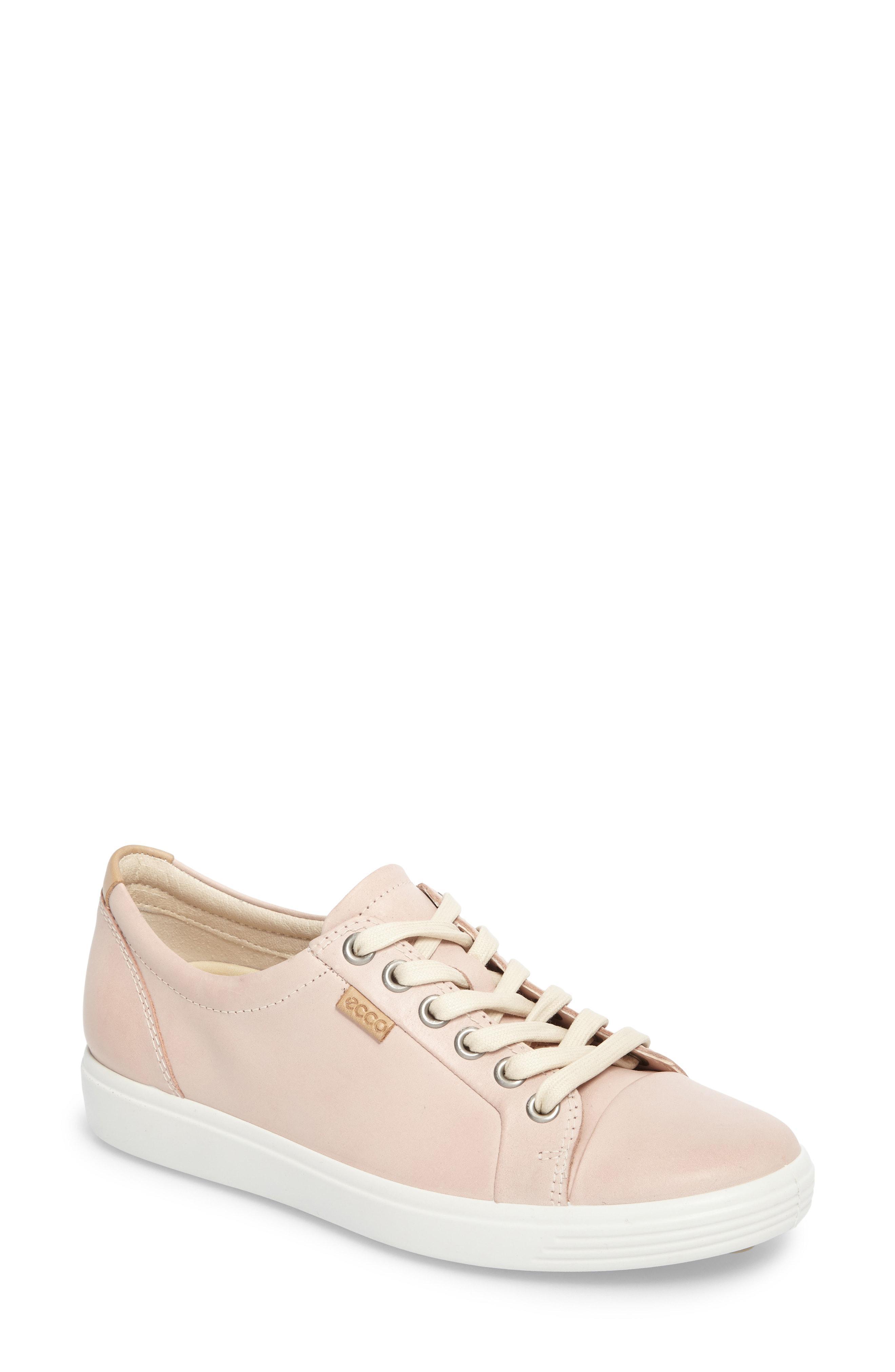 6b03609dd Ecco Soft 7 Sneaker in Pink - Lyst