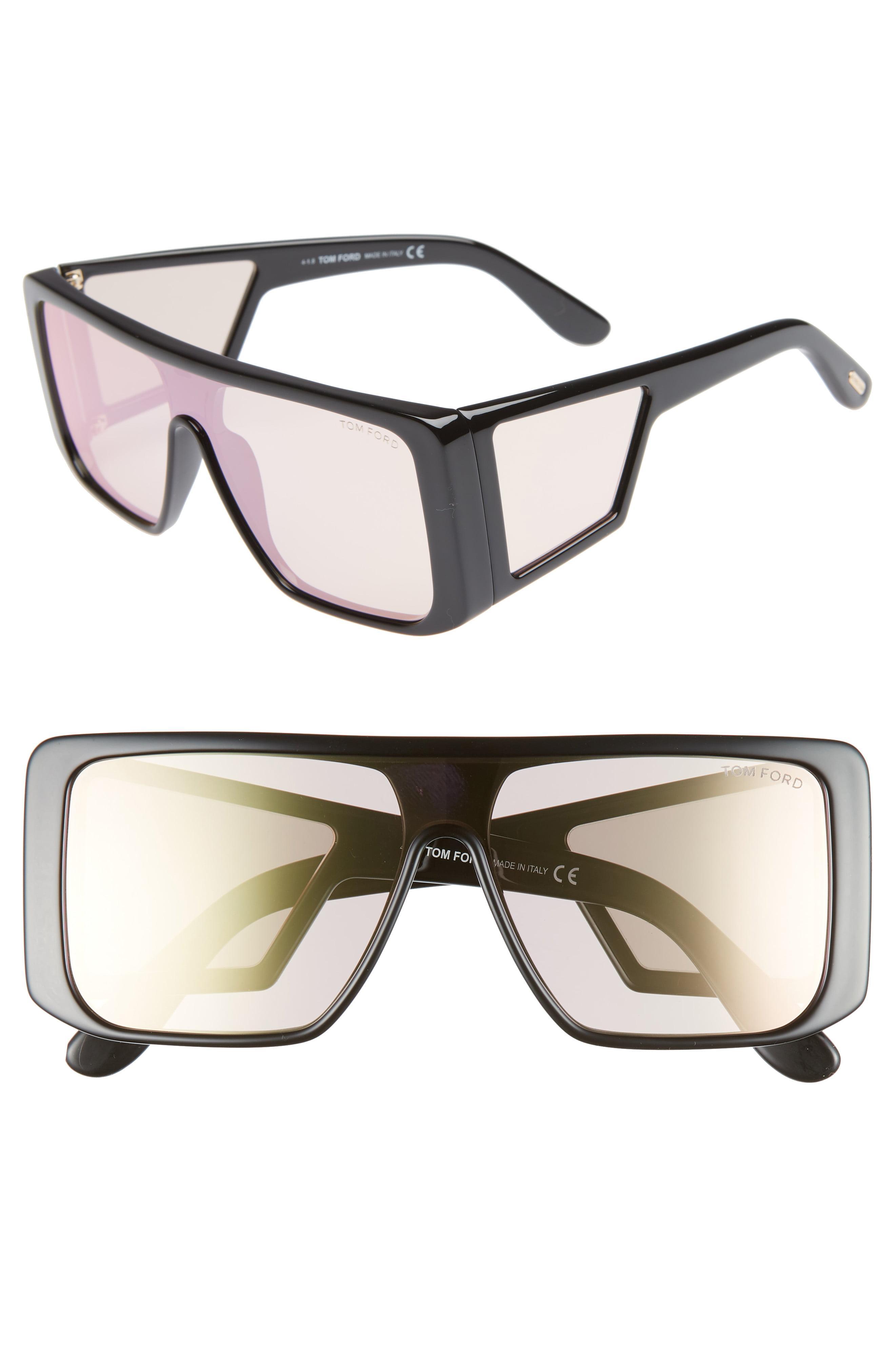 f5a2f1a083 Lyst - Tom Ford 132mm Atticus Shield Sunglasses -