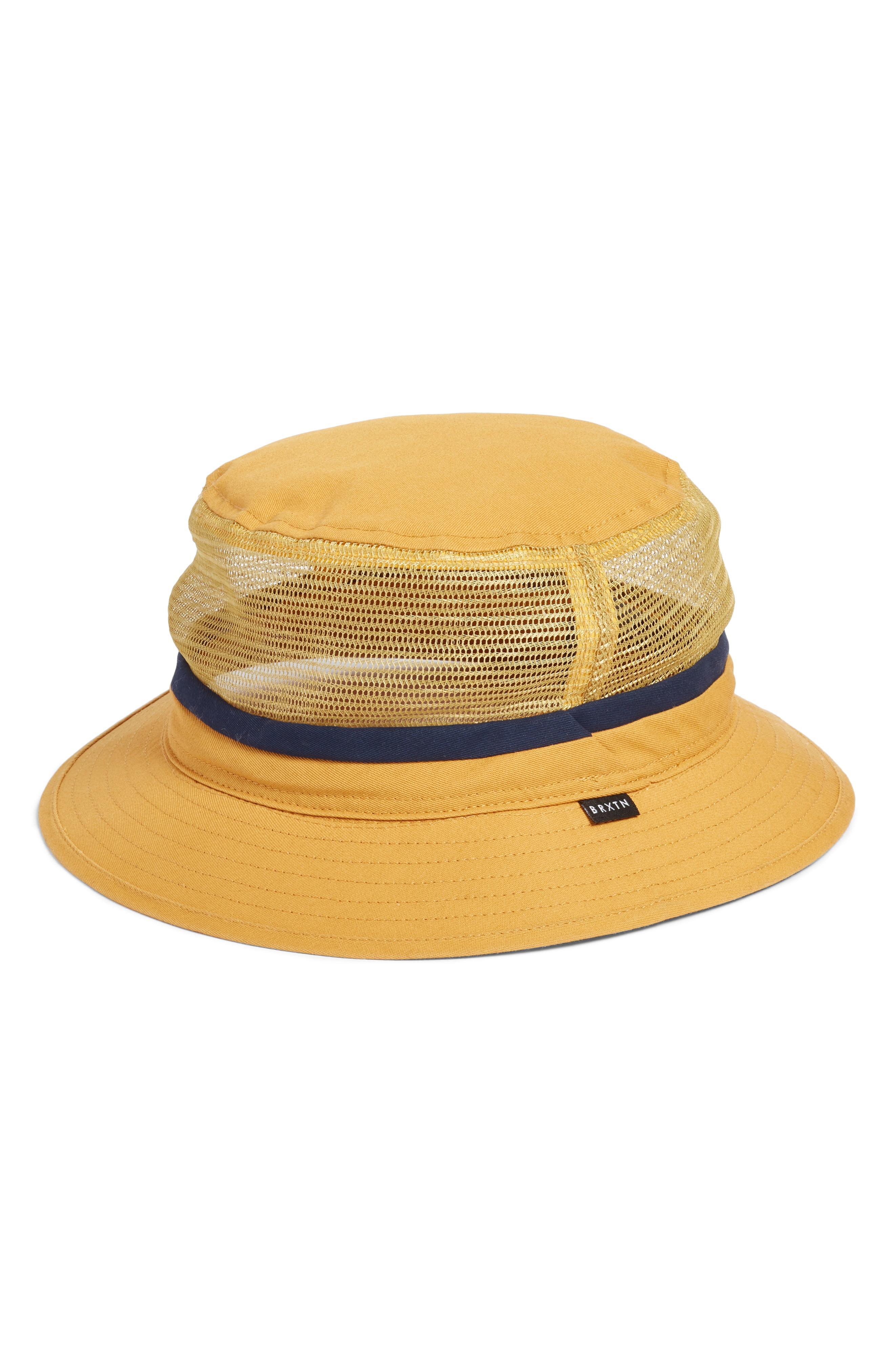 0158aef07 Lyst - Brixton Hardy Mesh Inset Bucket Hat - in Black for Men