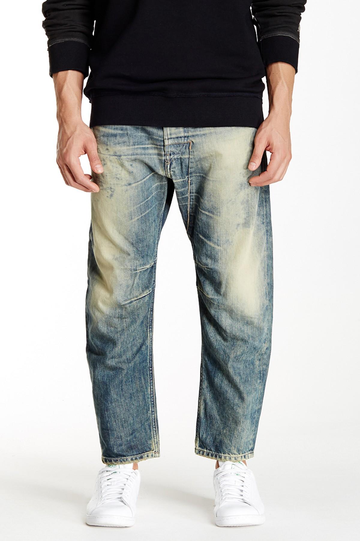 diesel narrot regular carrot fit jean in blue for men lyst. Black Bedroom Furniture Sets. Home Design Ideas