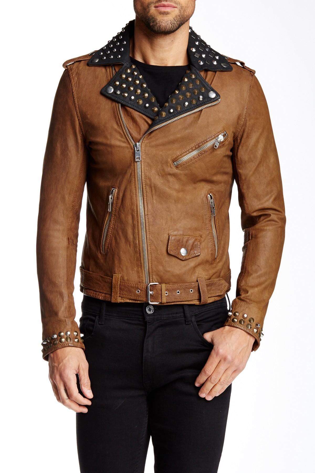 Diesel brown leather jacket