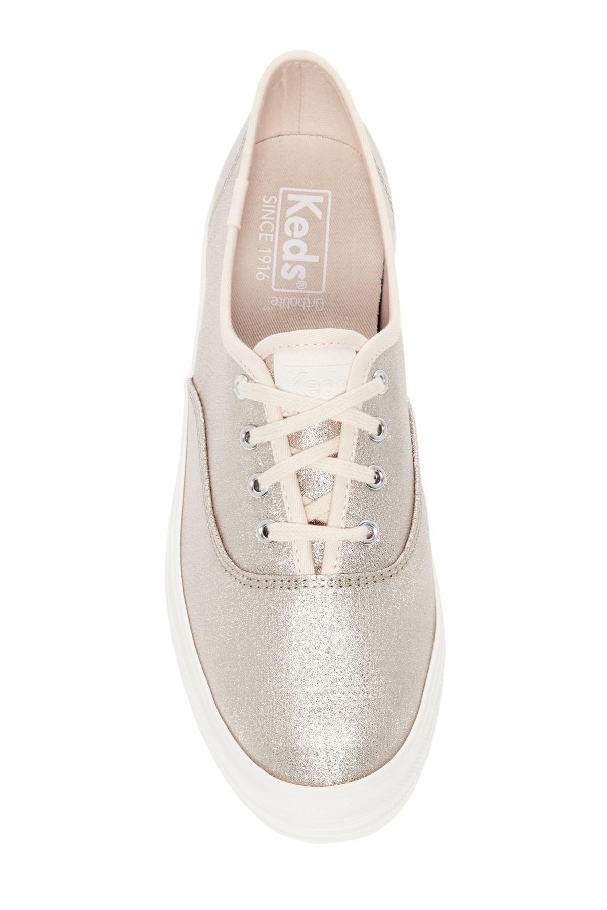 0f320789d71e0 Lyst - Keds Triple Lurex Platform Sneaker
