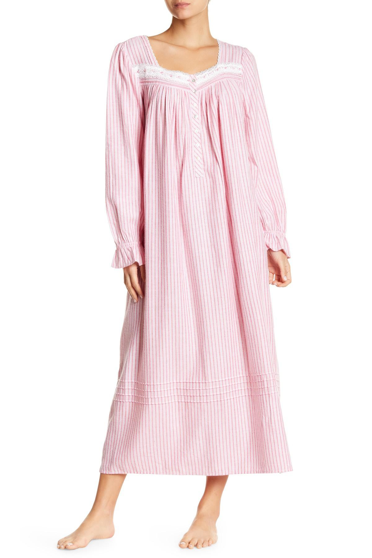 bde384adfe Lyst - Eileen West Long Sleeve Printed Ballet Nightgown in Pink