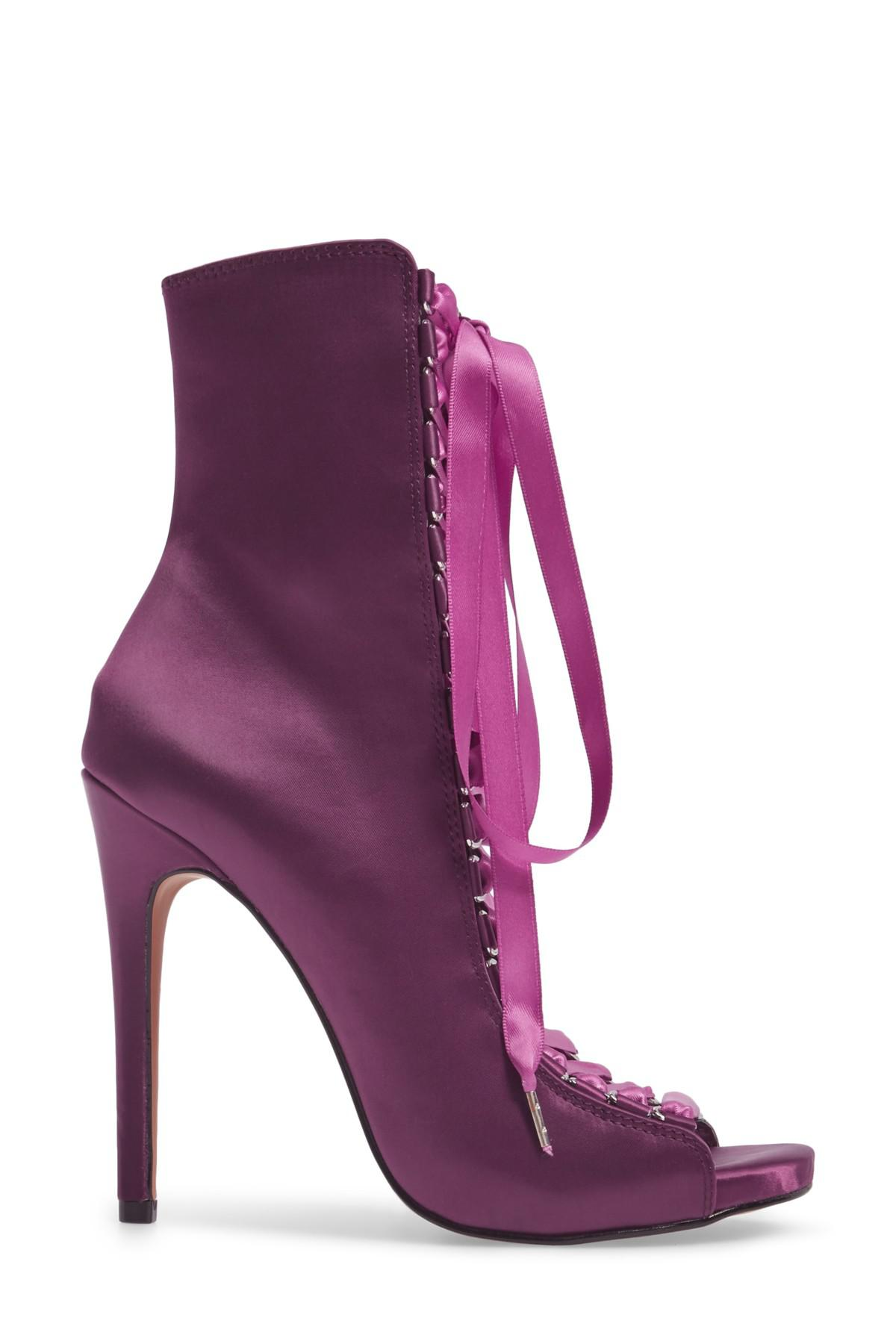 bb77d0bea5d Steve Madden Purple Fuego Lace-up Bootie