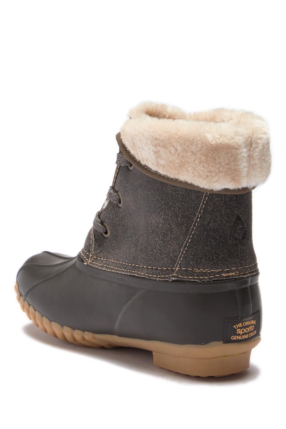 41b962a5012 Lyst - Sporto Degas 2 Faux Fur Duck Boot