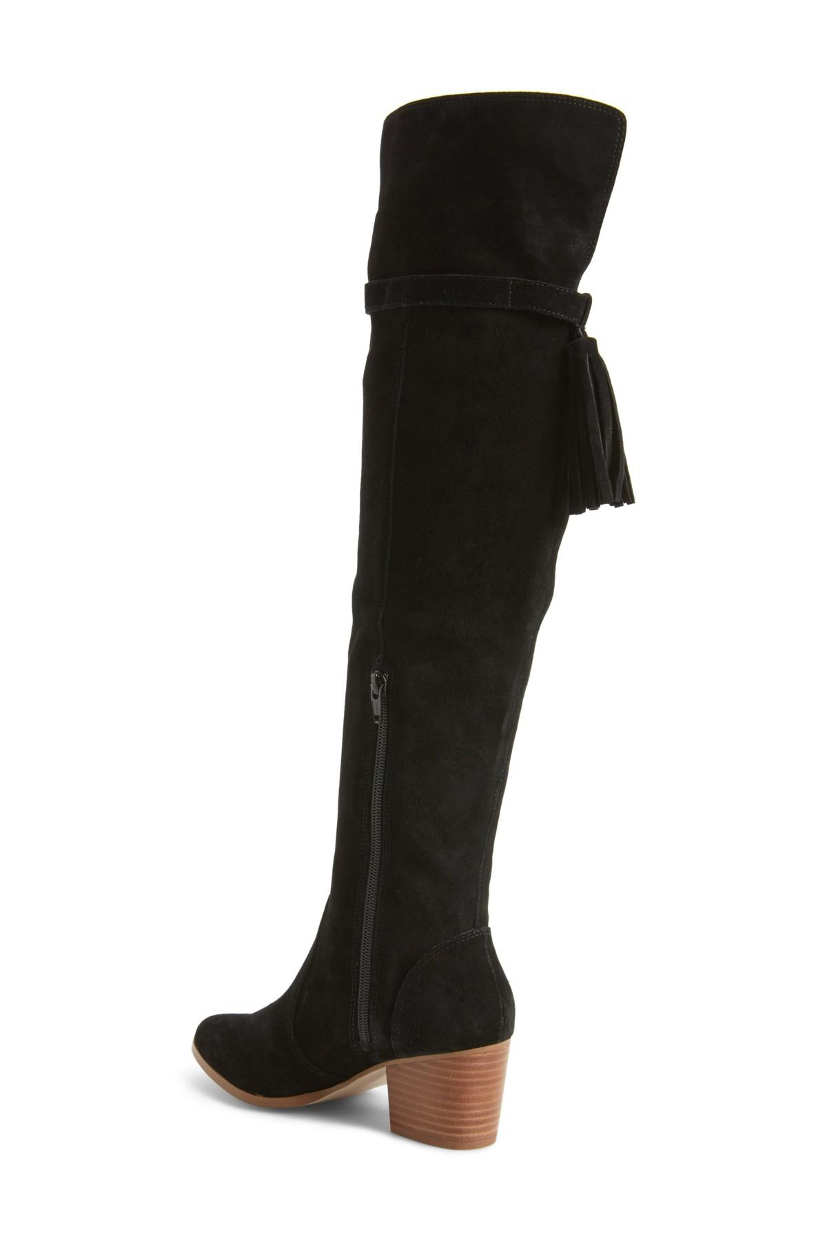 0781164894d Lyst - Sole Society Erika Over The Knee Boot (women) in Black