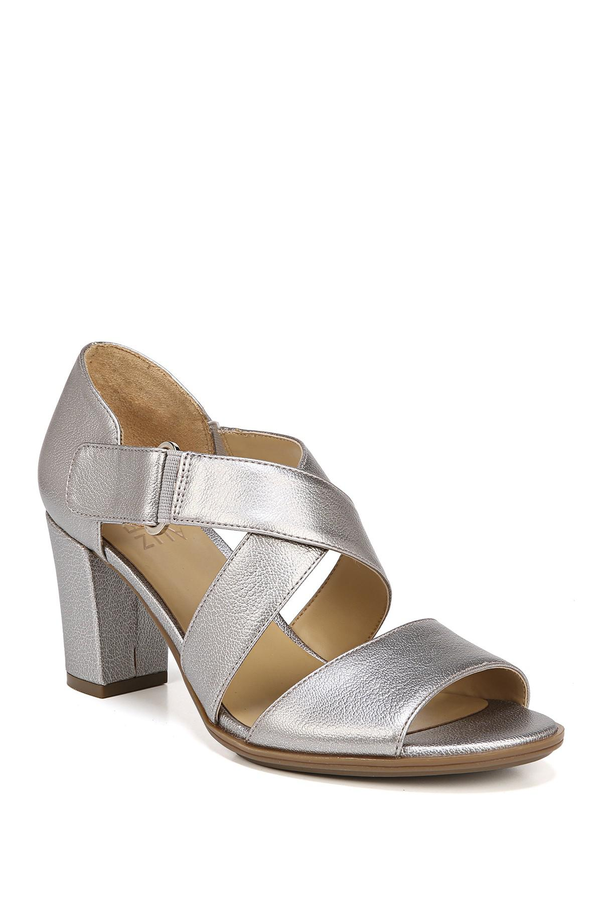 04df6a8ff39 Lyst - Naturalizer Lindy Sandal - Wide Width Available in Metallic