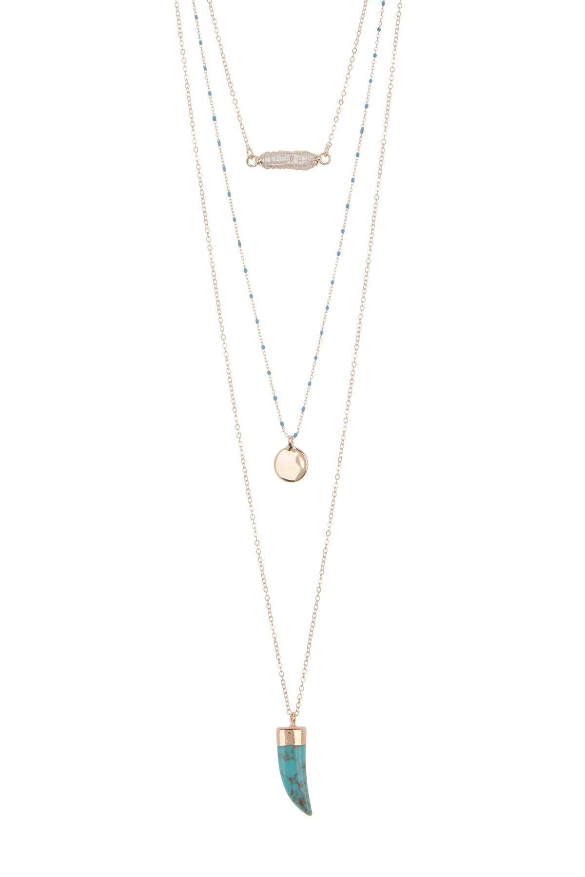 d55bb552bc8bc Women's Metallic Layered Sea Life Necklace