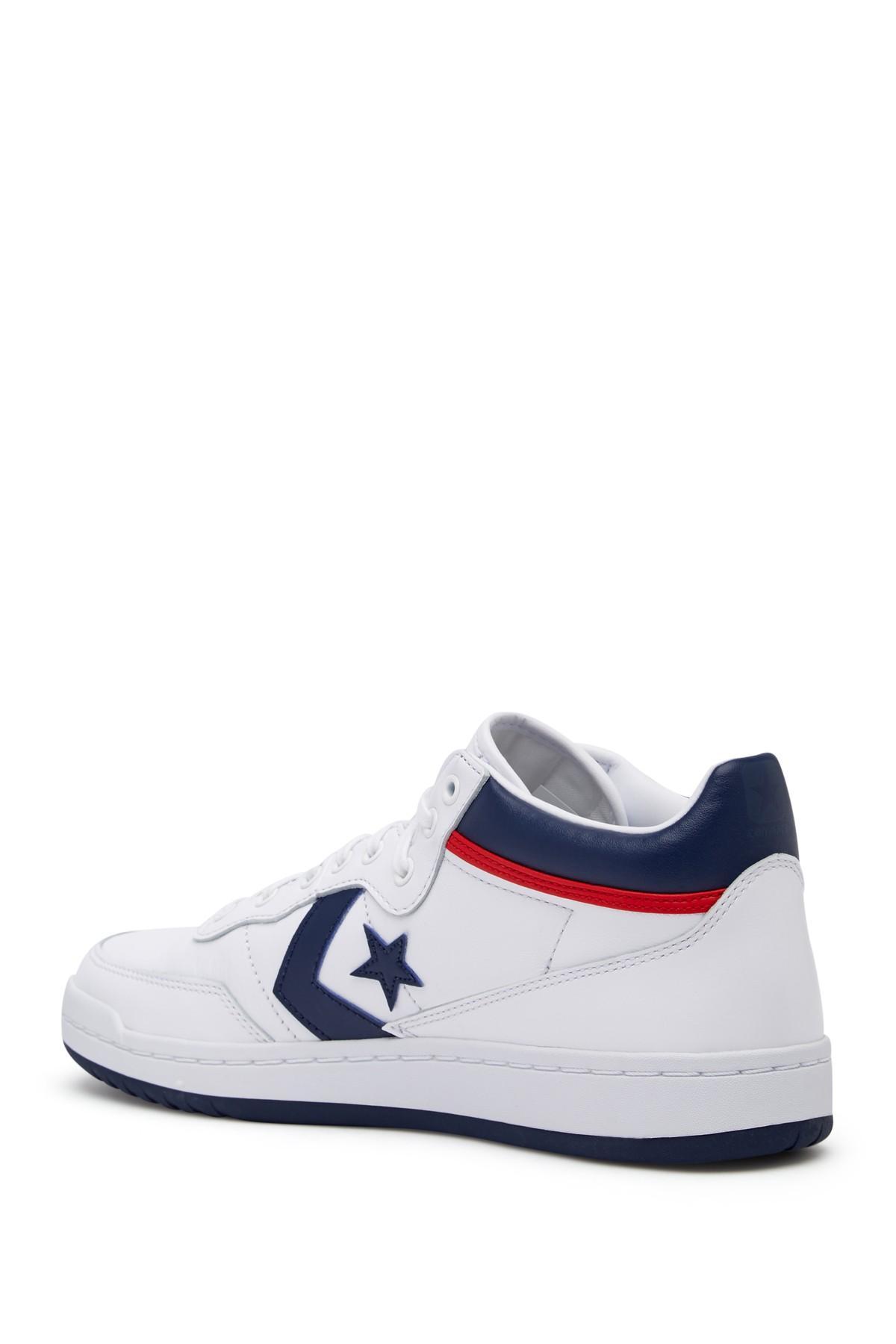 Converse Fastbreak 83 Mid Leather Sneaker (unisex) in White ...