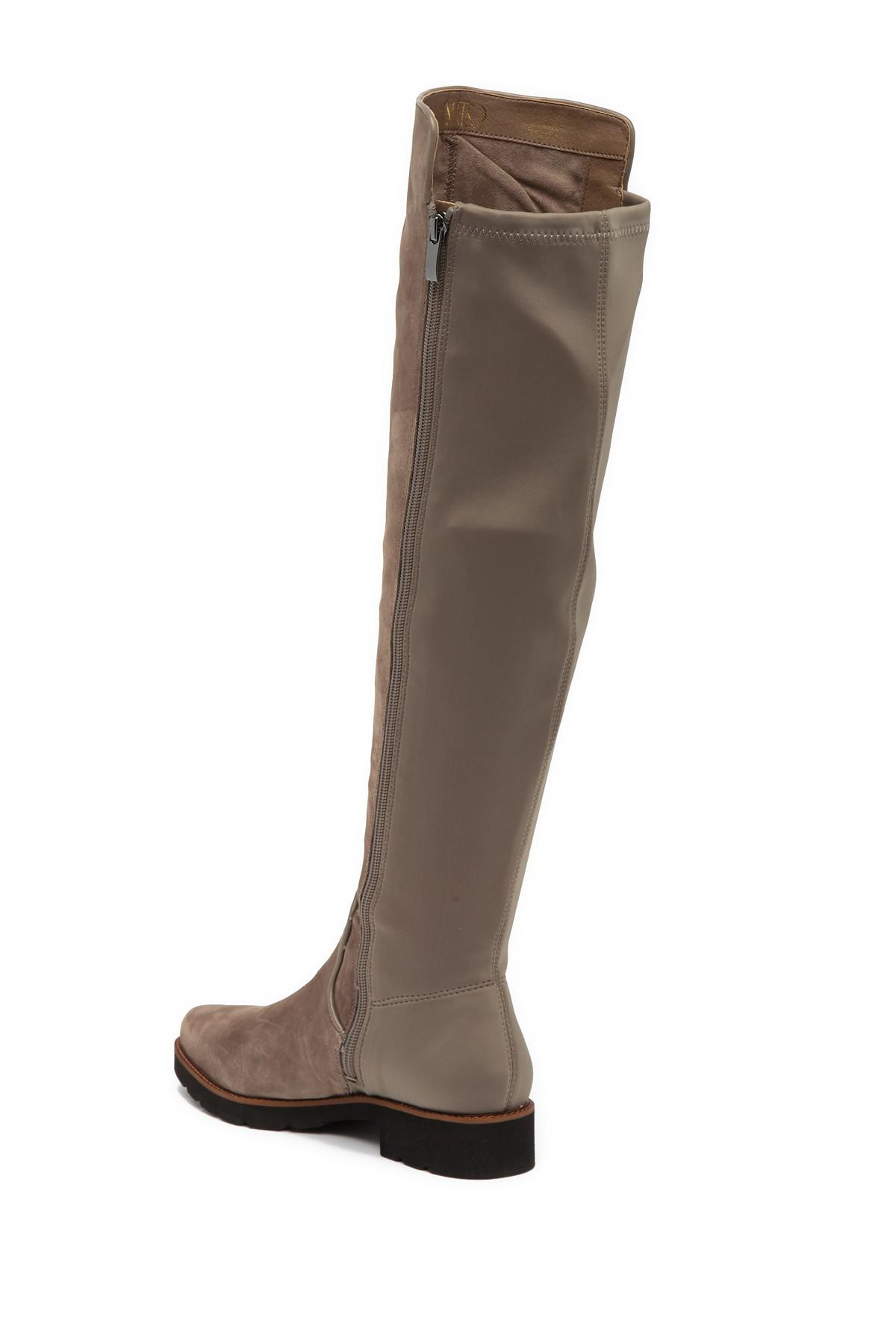bca0cc3cc34 Franco Sarto - Brown Benner Leather Over-the-knee Boot - Lyst. View  fullscreen