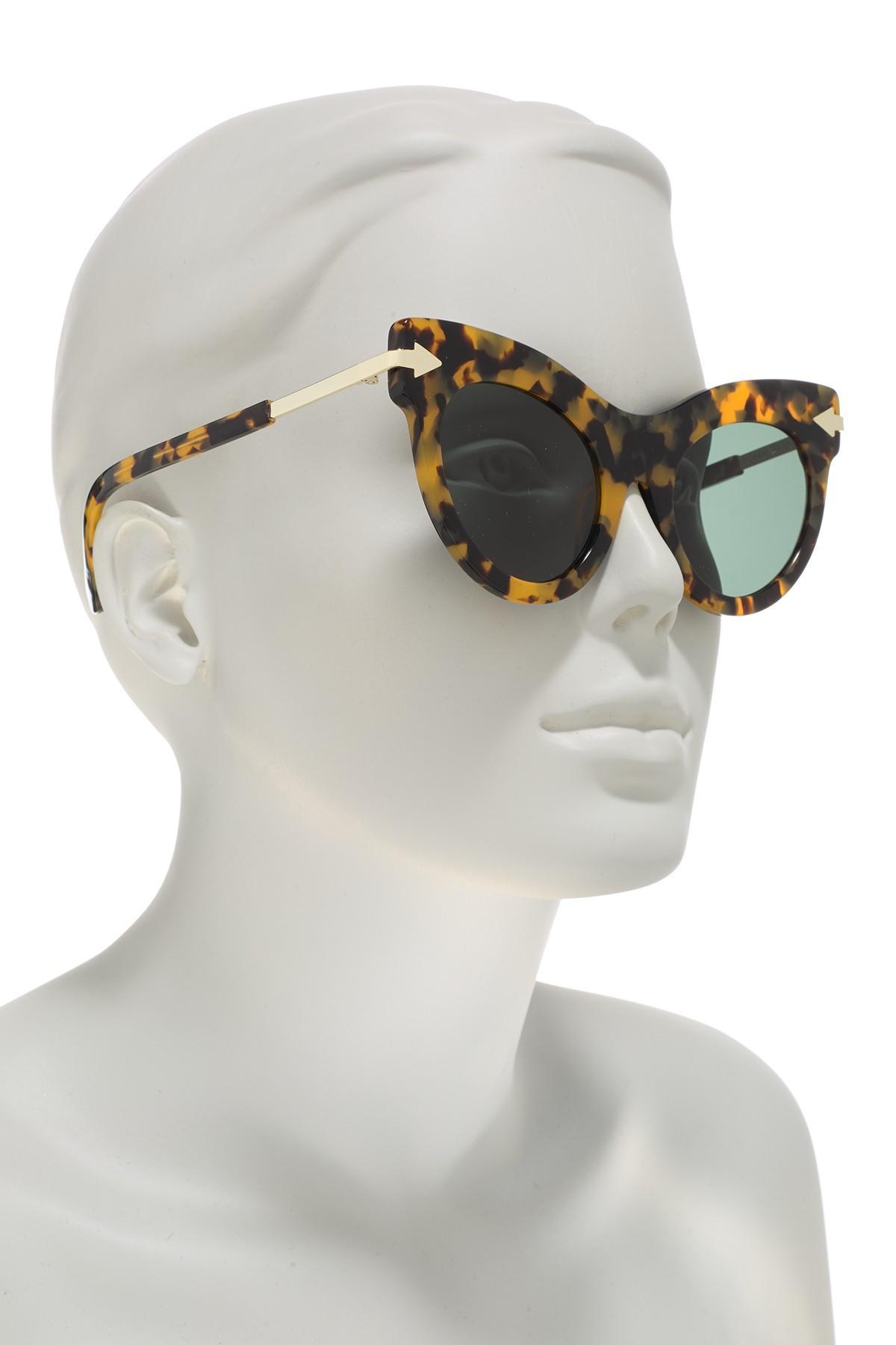 234bf93a387e Karen Walker - Multicolor 52mm Miss. Lark Cat-eye Sunglasses - Lyst. View  fullscreen